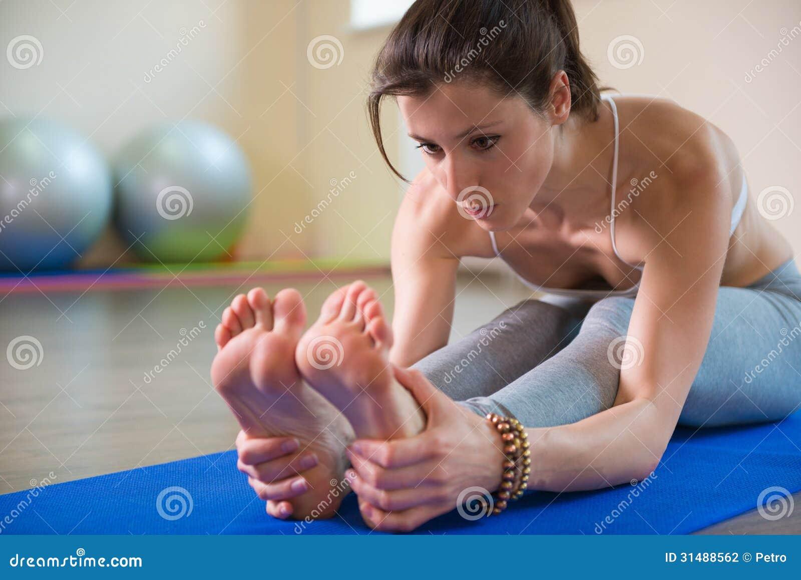 Séance d entraînement de yoga