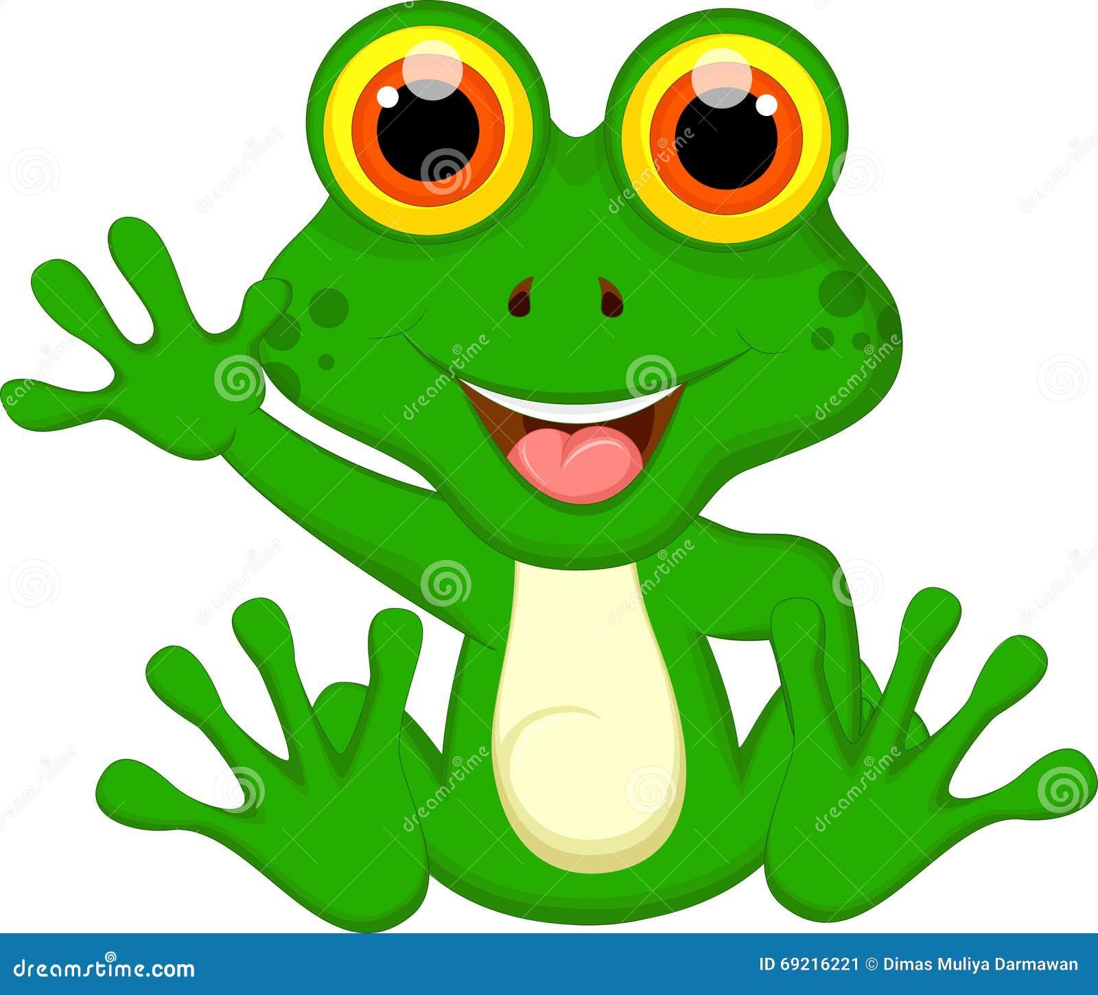 S ance mignonne de bande dessin e de grenouille verte illustration stock illustration du - Dessin de grenouille verte ...