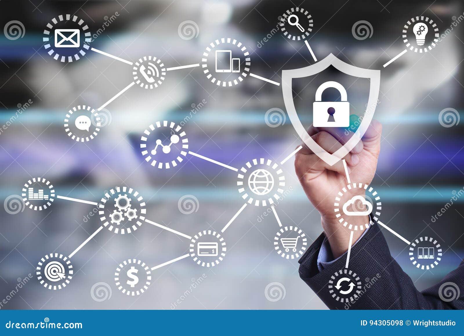 Sécurité de Cyber, protection des données, sécurité de l information Concept de technologie d Internet