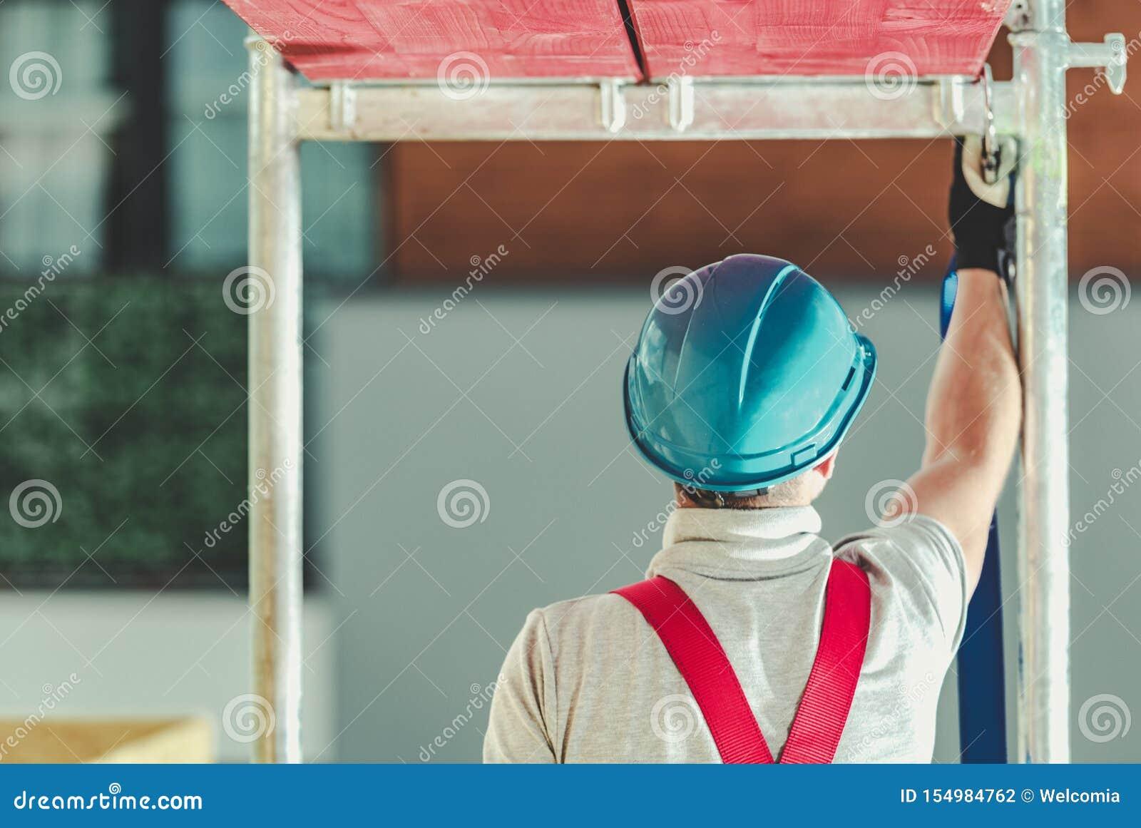 Sécurité de travailleurs sur l échafaudage