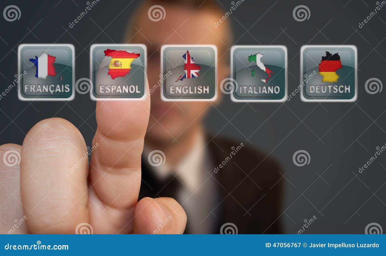 Sélection de langue de bouton