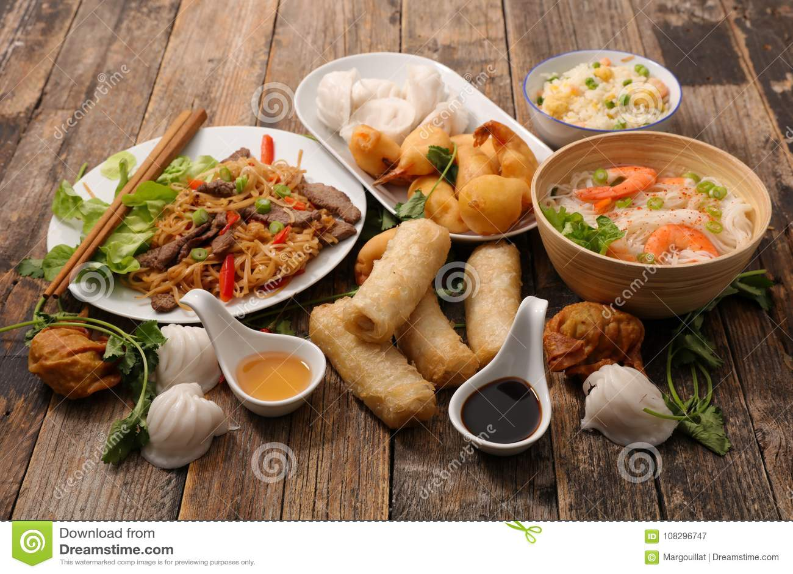 Sélection de nourriture de l Asie