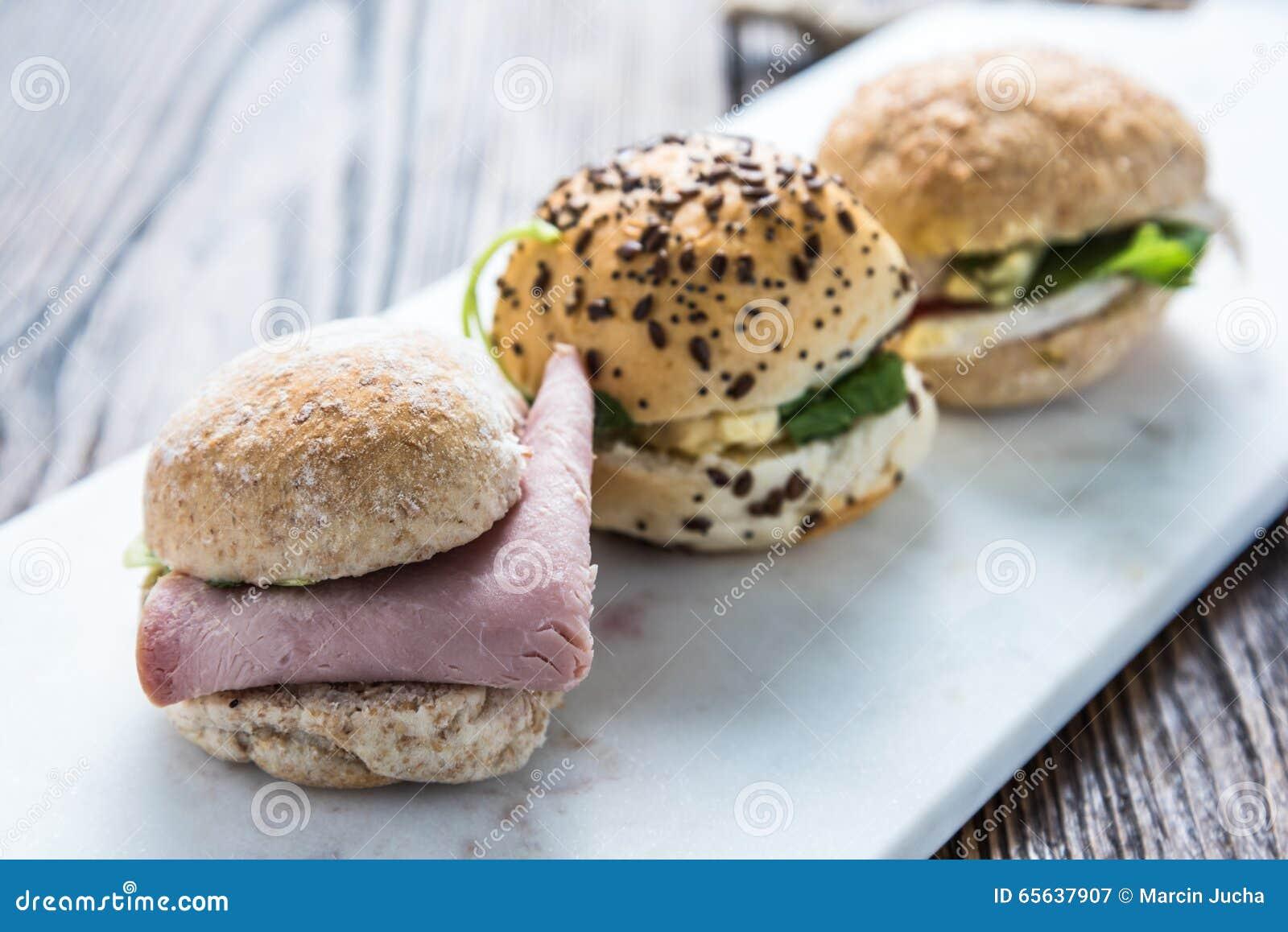 Sélection de sandwich à épicerie