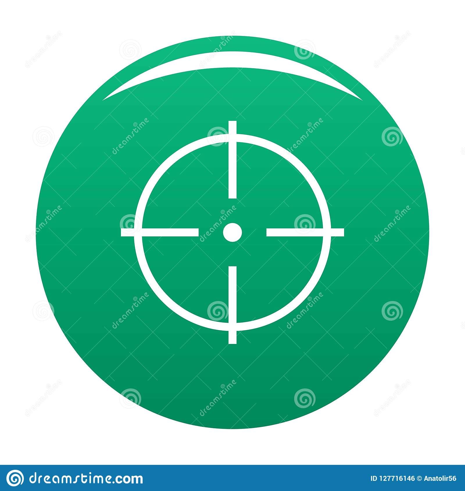 Sélection de vert de vecteur d icône de cible