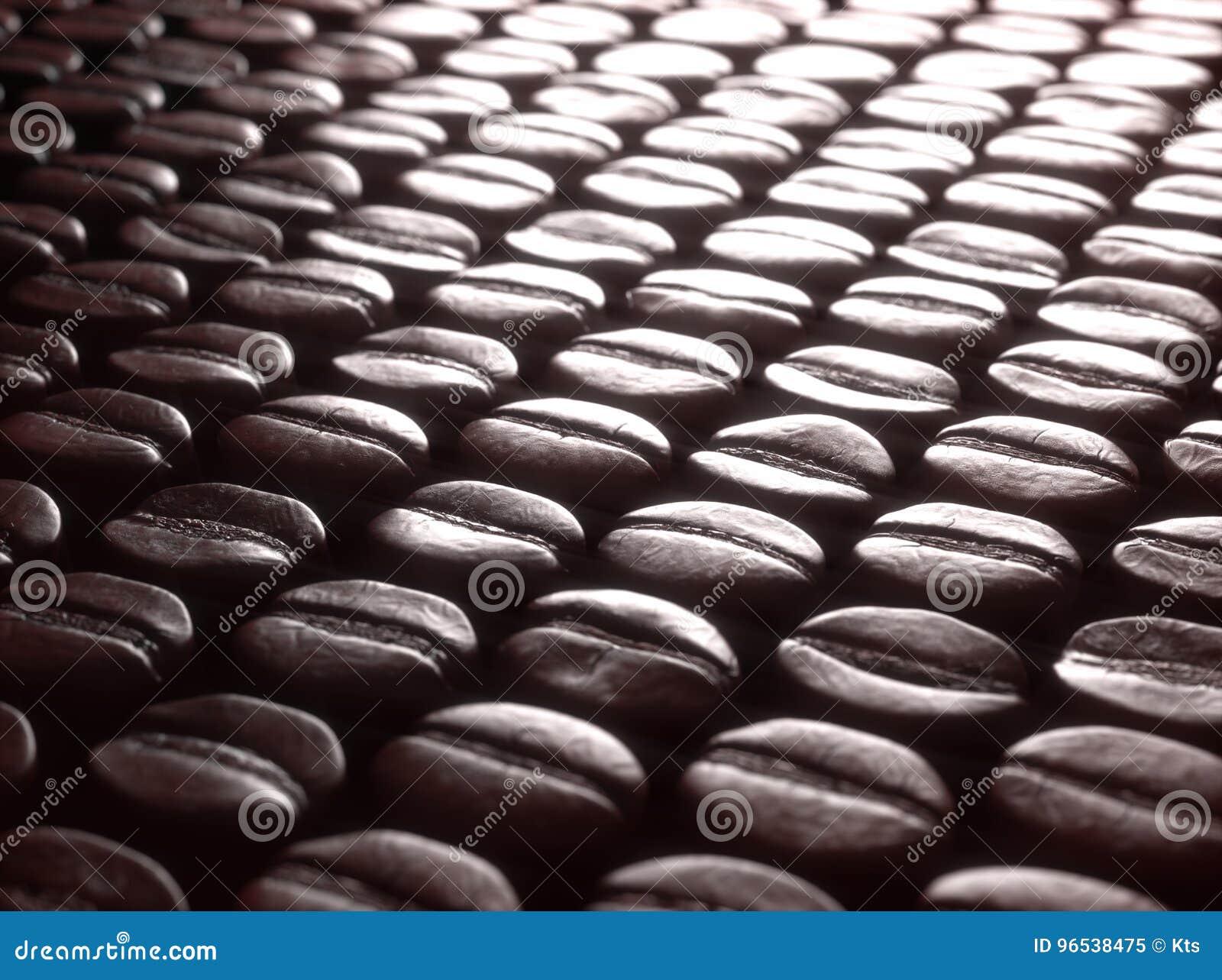 Sélection rôtie de grains de café
