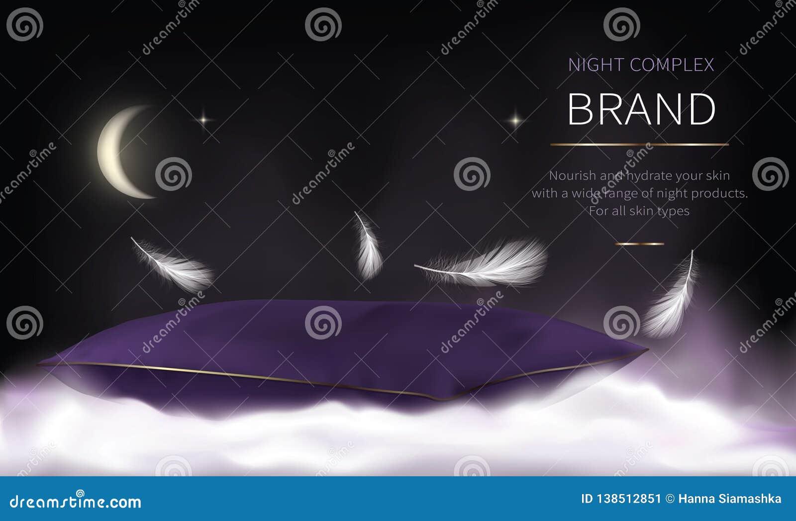 Série cosmétique de nuit pour des soins de la peau de visage