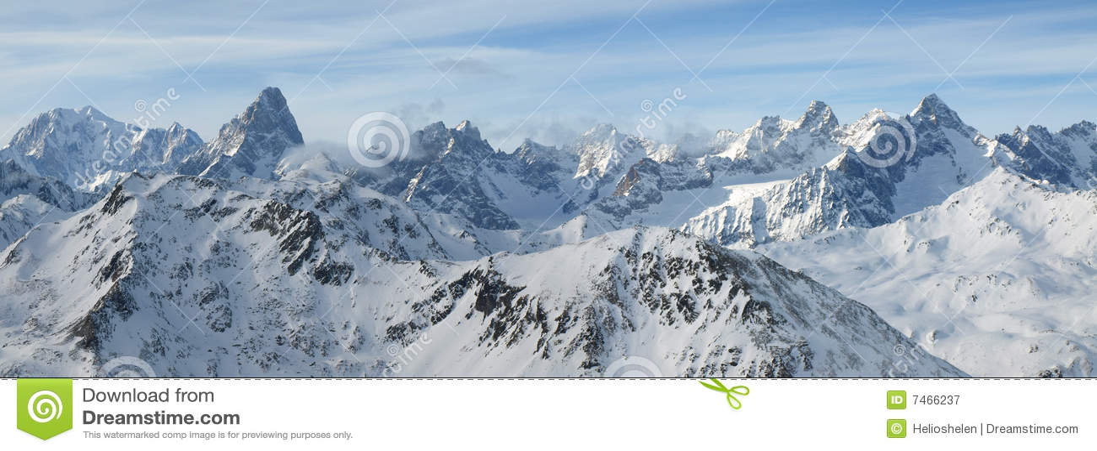 Série d horizontaux d alpes