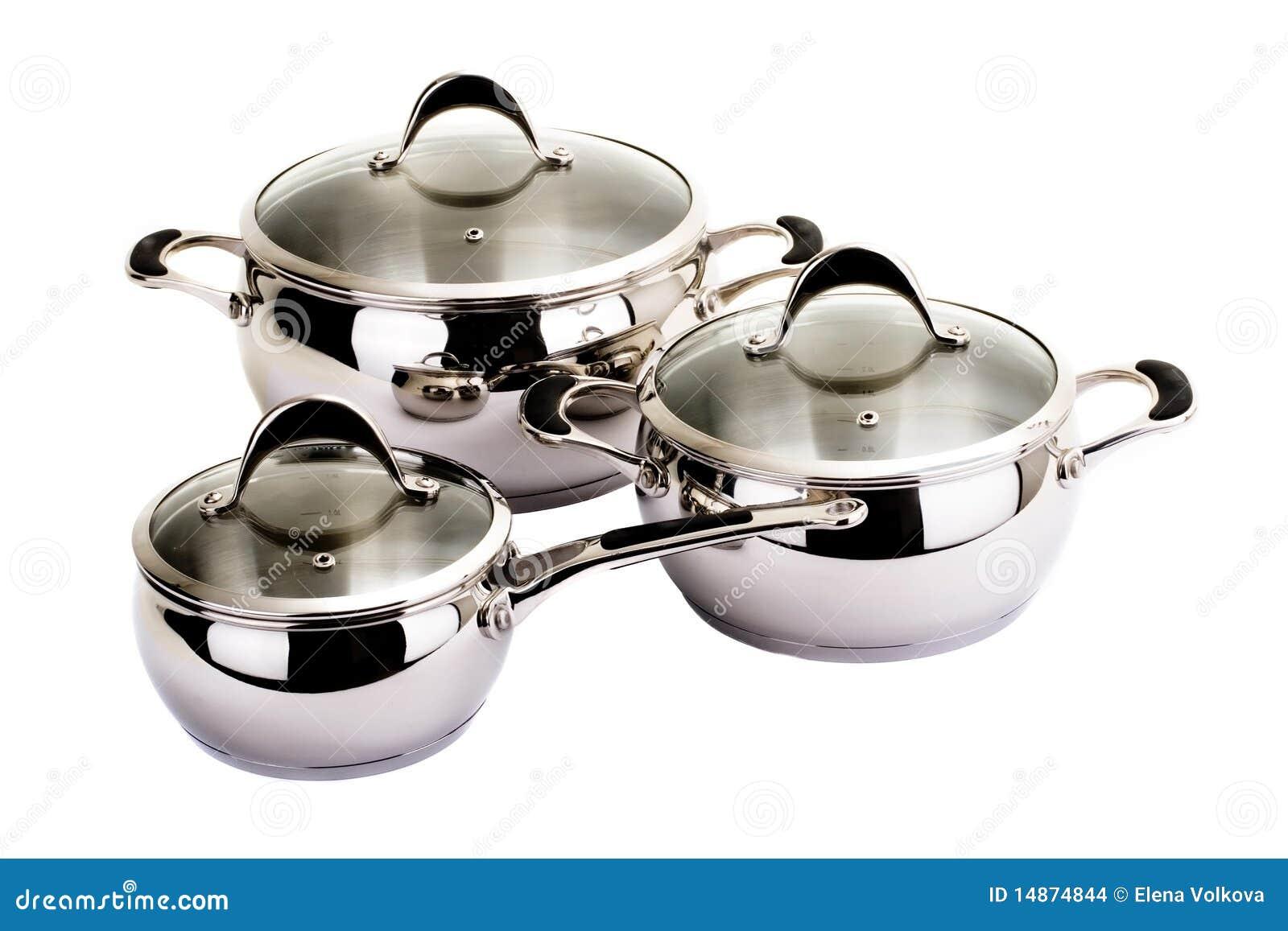 Série d images des articles de cuisine. Positionnement de carter