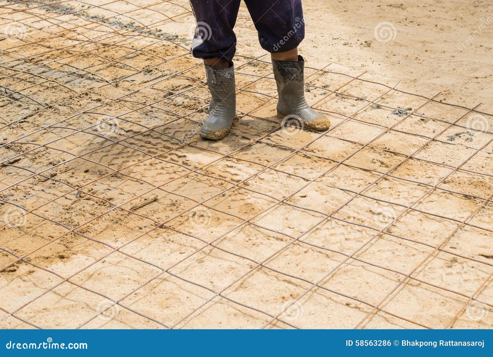 Série da construção rodoviária do cimento