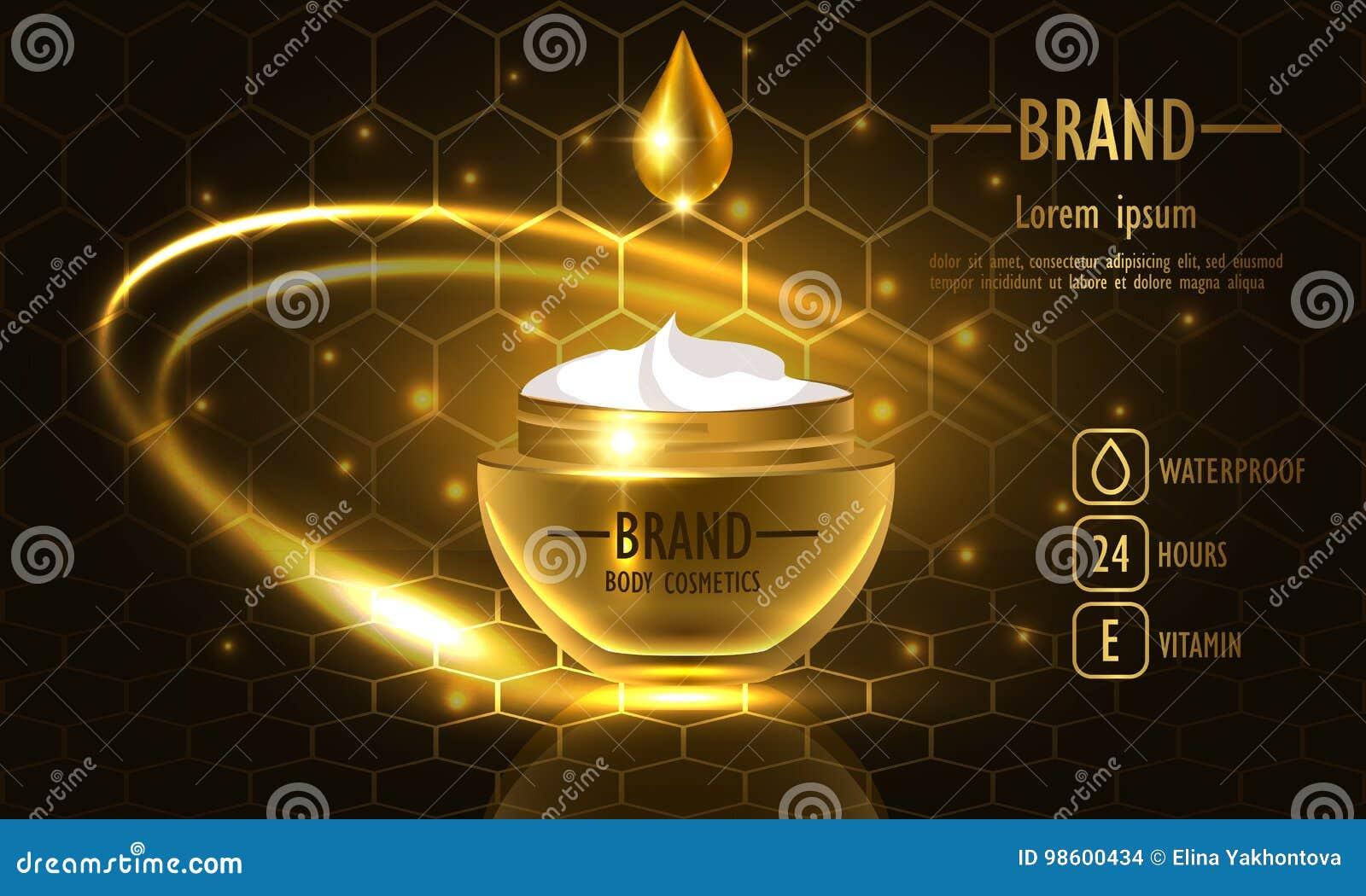Série de beauté de cosmétiques, emballage de la meilleure qualité de Honey Cream pour des soins de la peau Calibre pour l affiche
