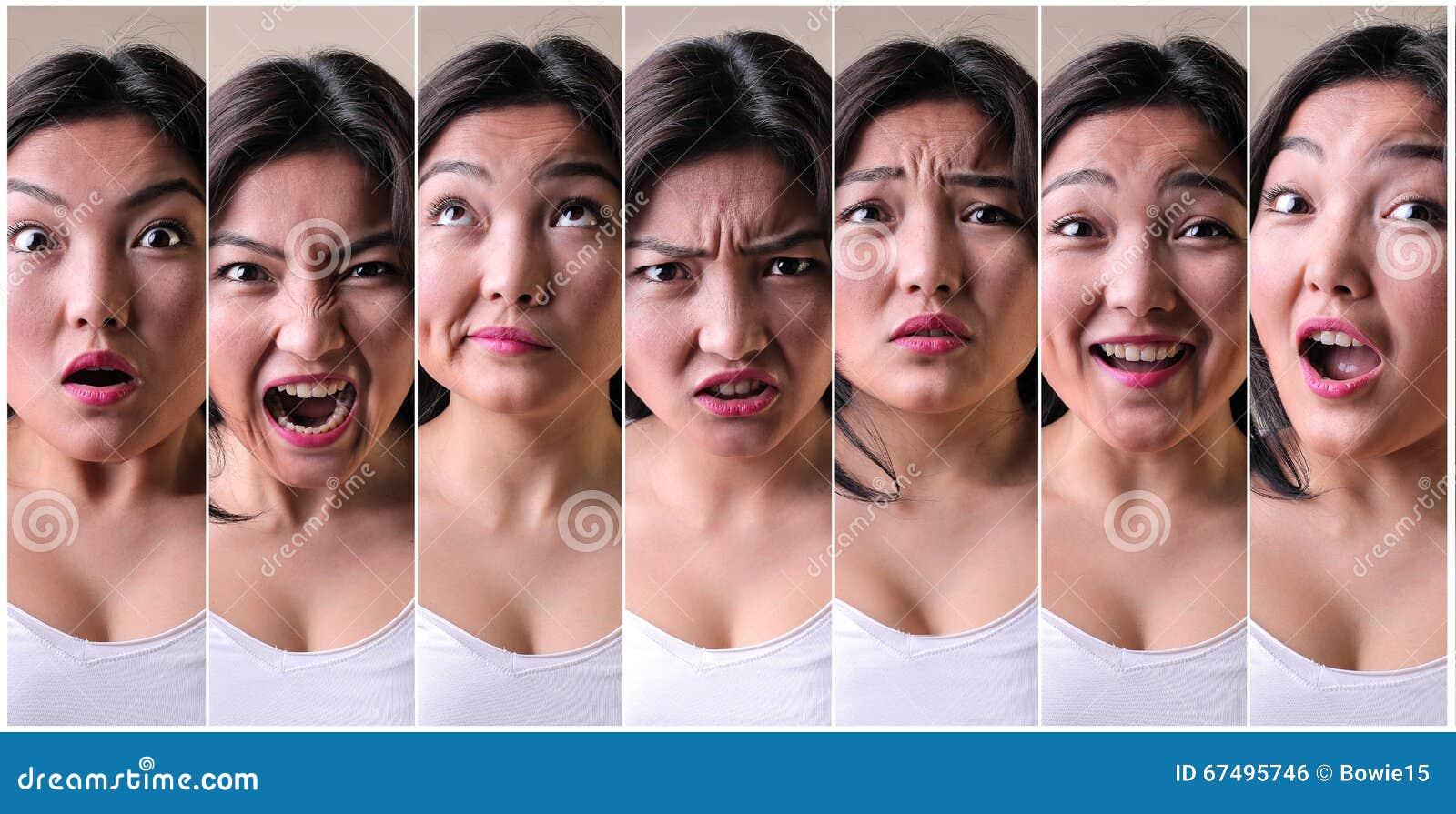 Série de expressões faciais