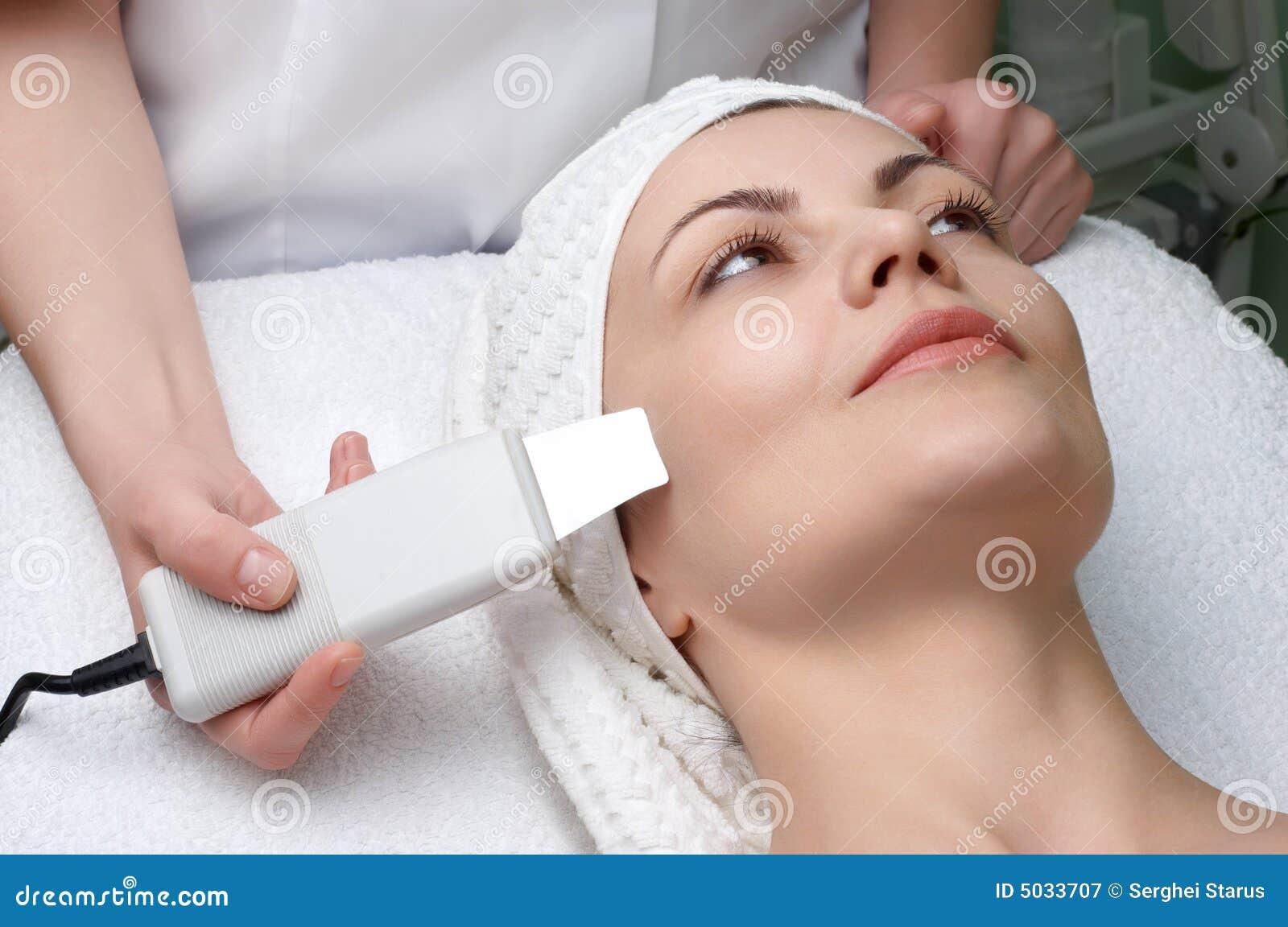 Série de salon de beauté, nettoyage de peau d ultrason