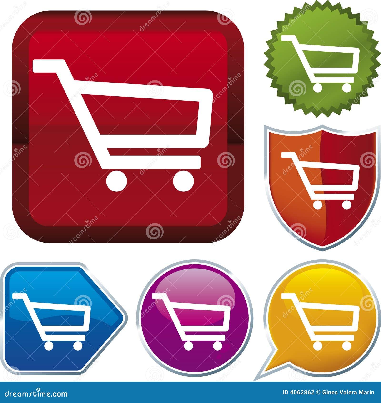 Série do ícone: carro de compra (VE