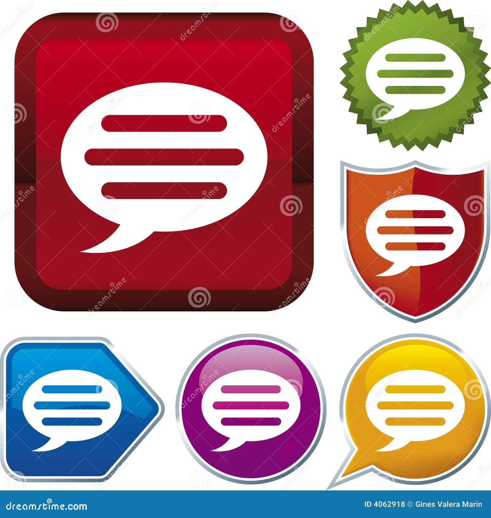 Série do ícone: conversa (vetor)