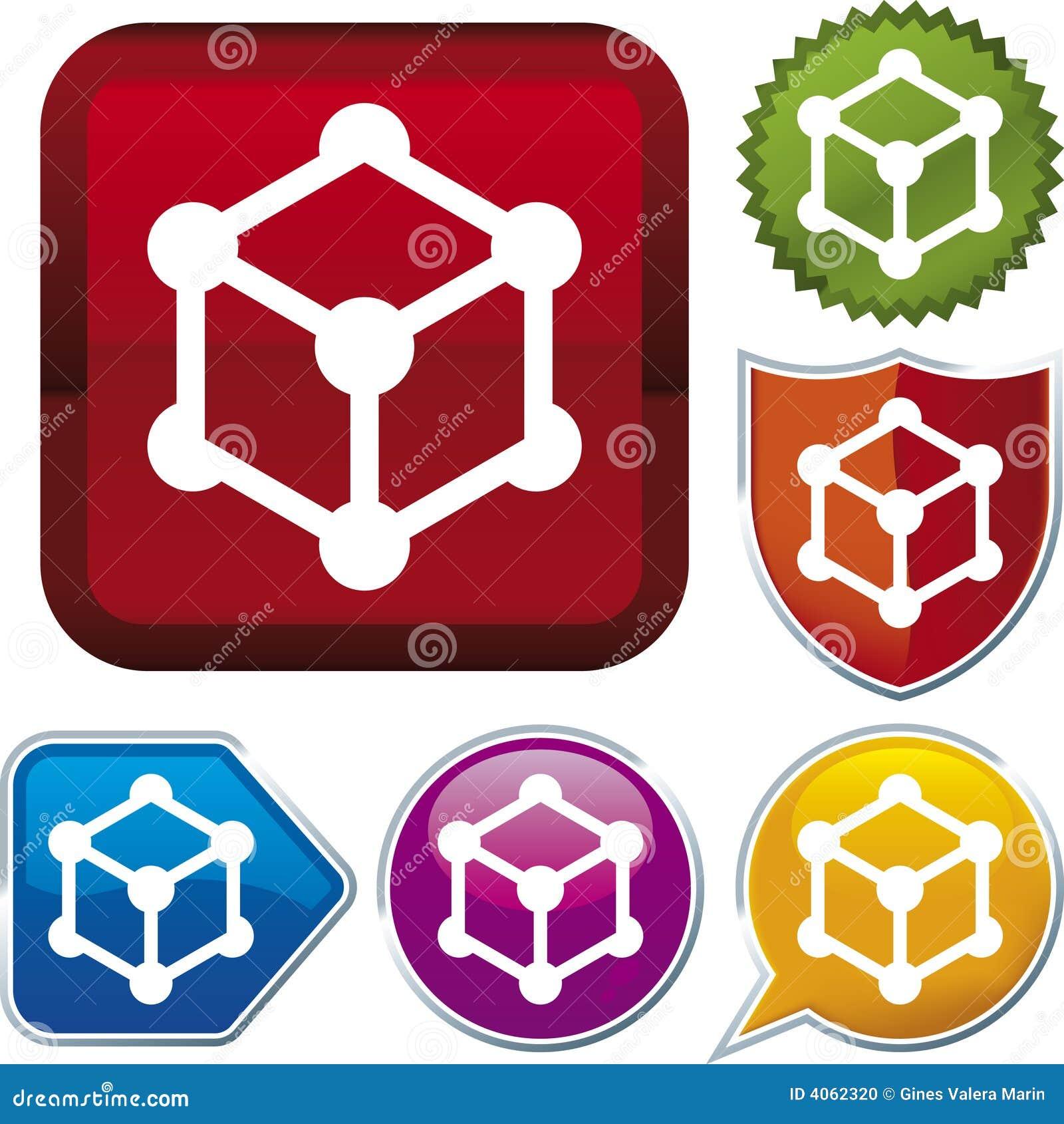 Série do ícone: cubo (vetor)