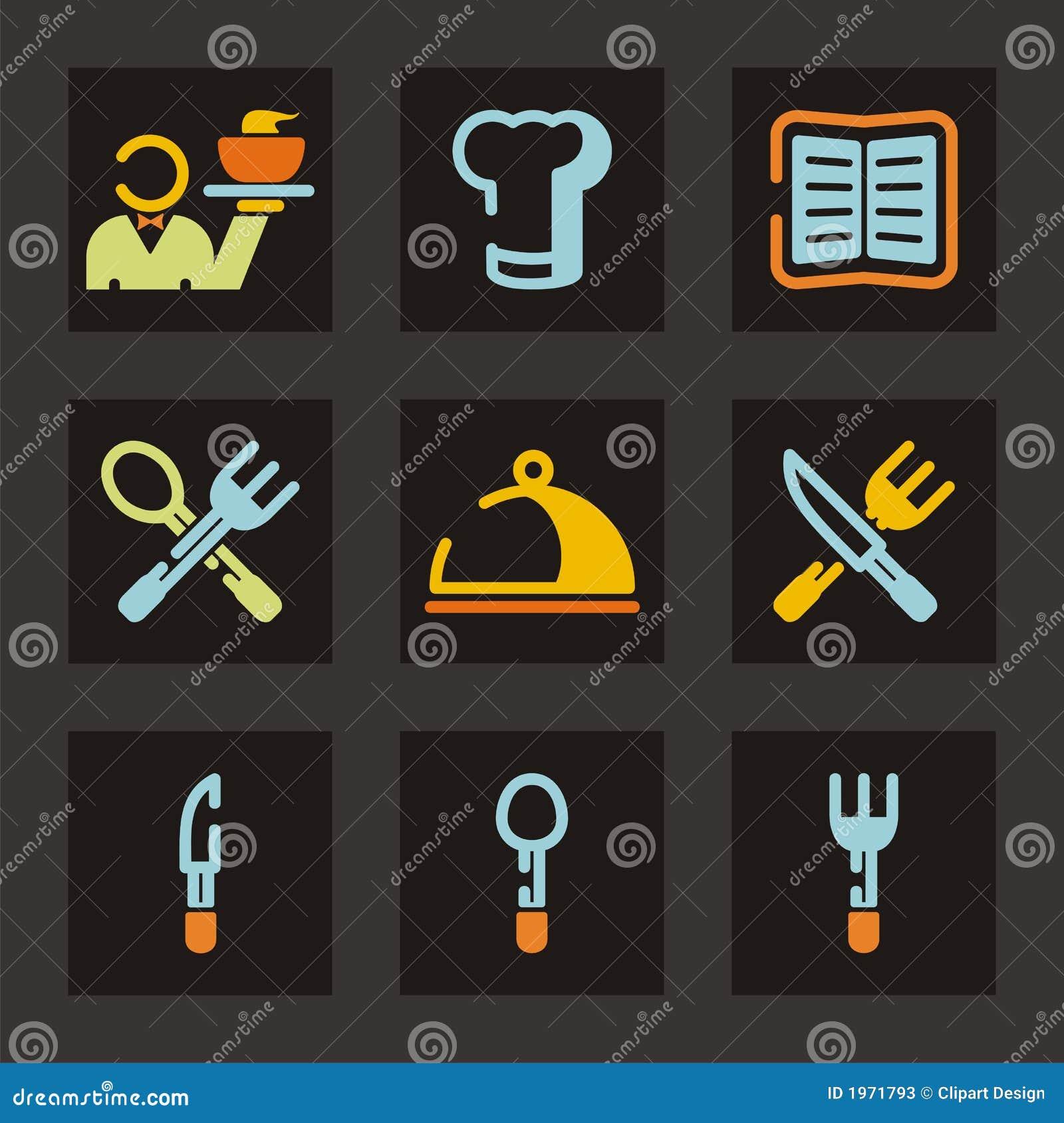 Série do ícone do restaurante