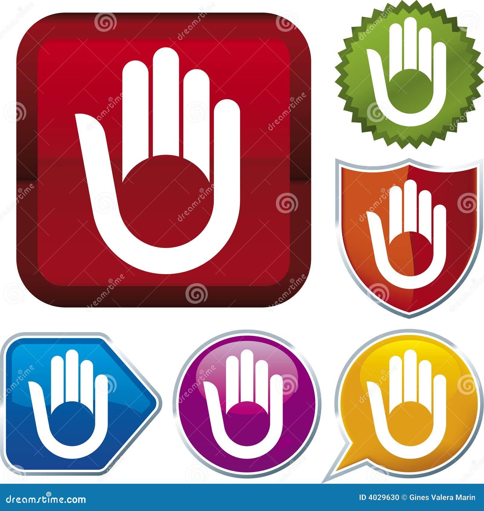 Série do ícone: mão (vetor)