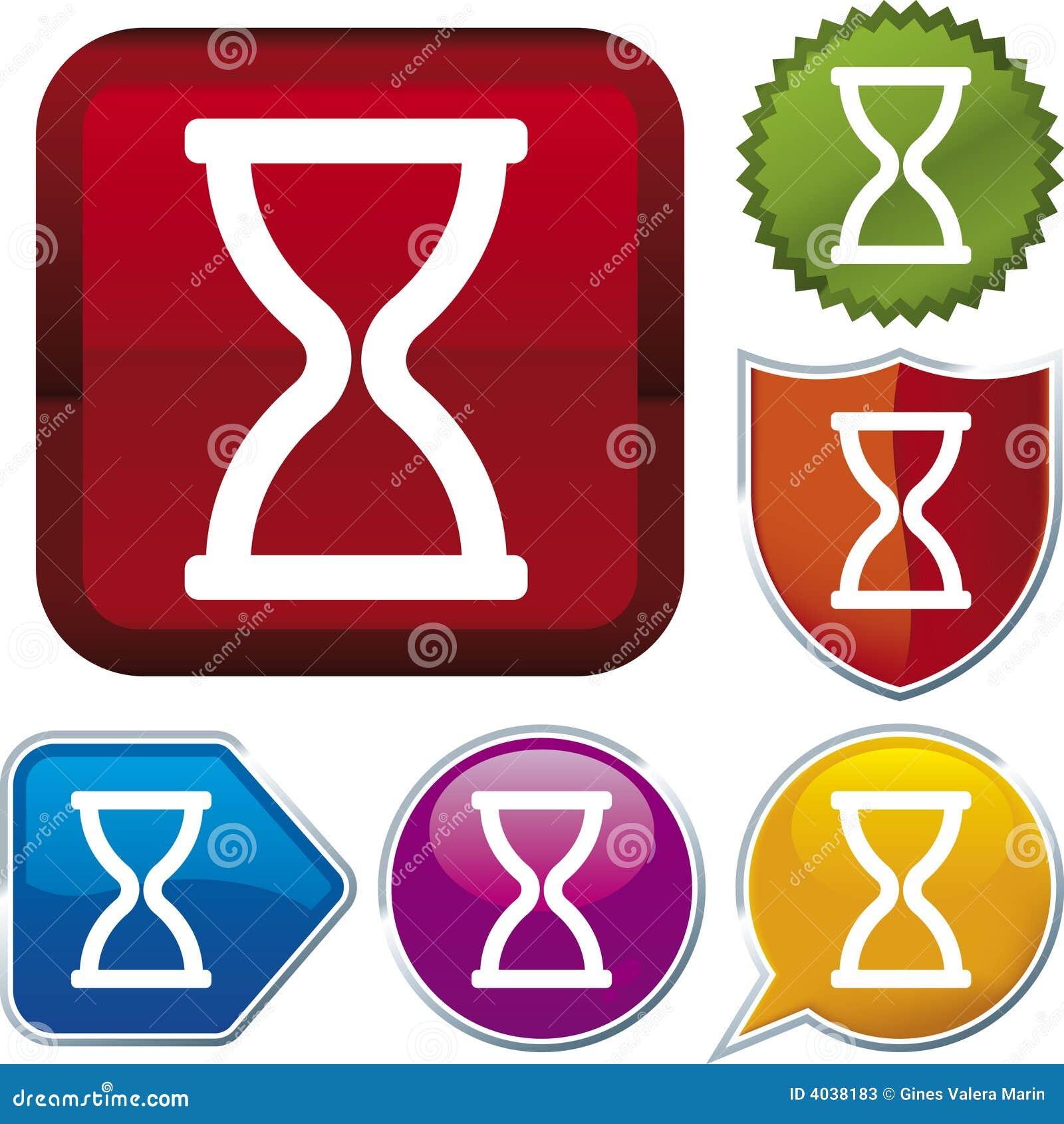 Série do ícone: tempo (vetor)