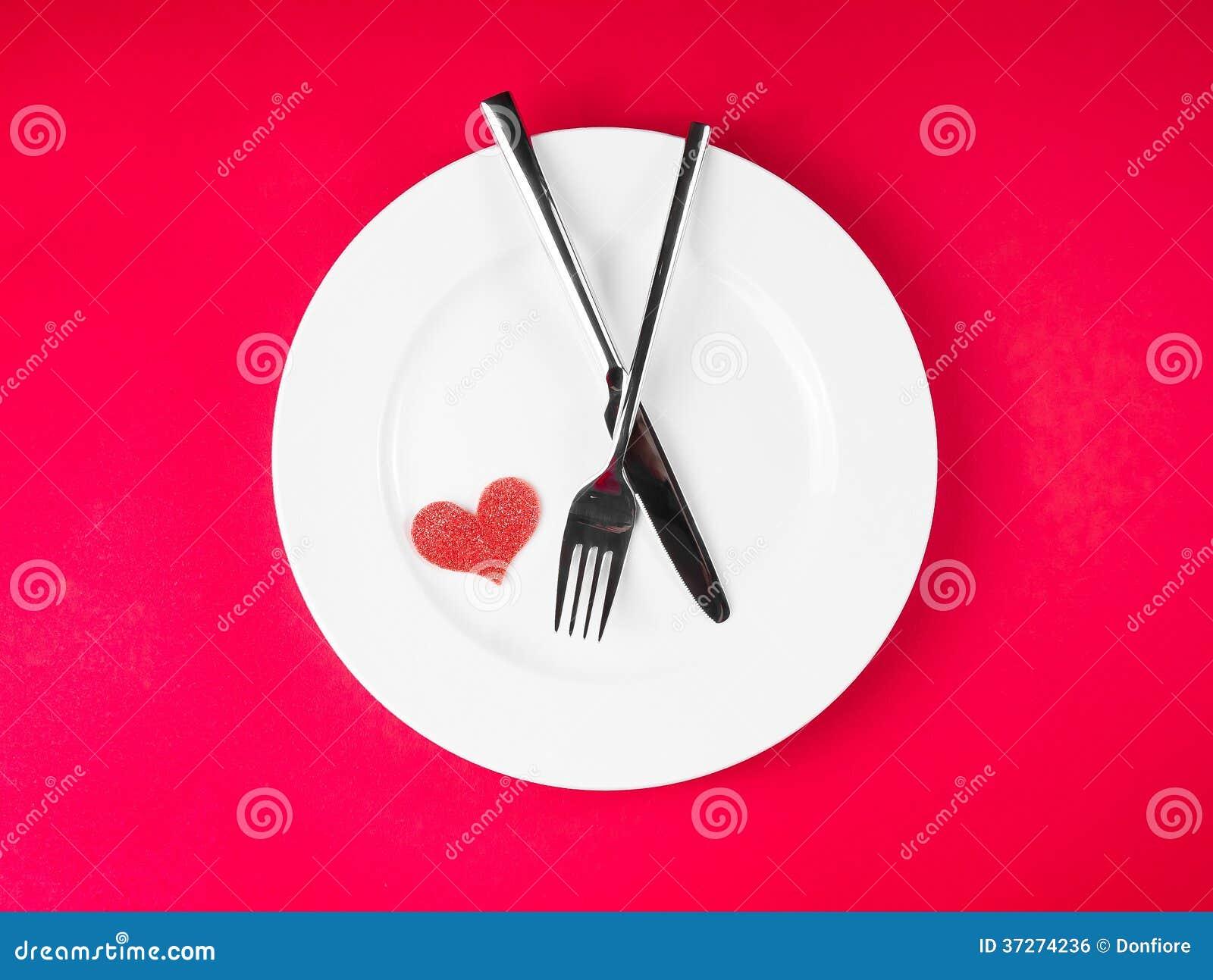 Série De Mensagens E Jantar De: Série Do Restaurante, Jantar Do Dia De São Valentim No