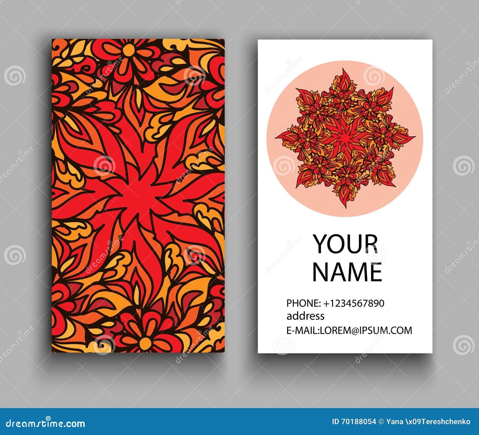 Série financeira e do negócio Elementos decorativos do vintage Cartões florais decorativos, teste padrão oriental