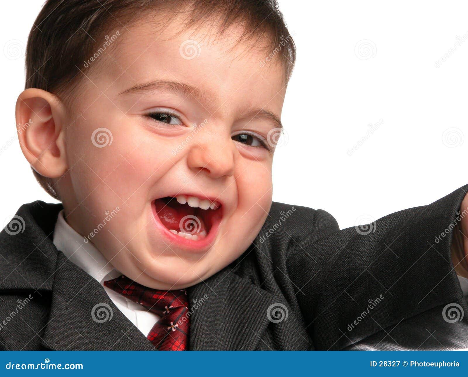Série pequena do homem: Sorriso do vendedor