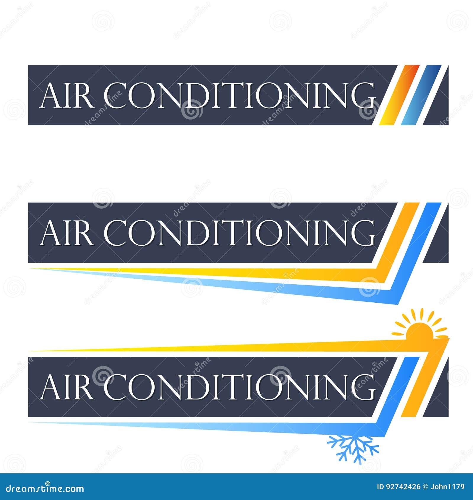 Símbolo ajustado do condicionamento de ar