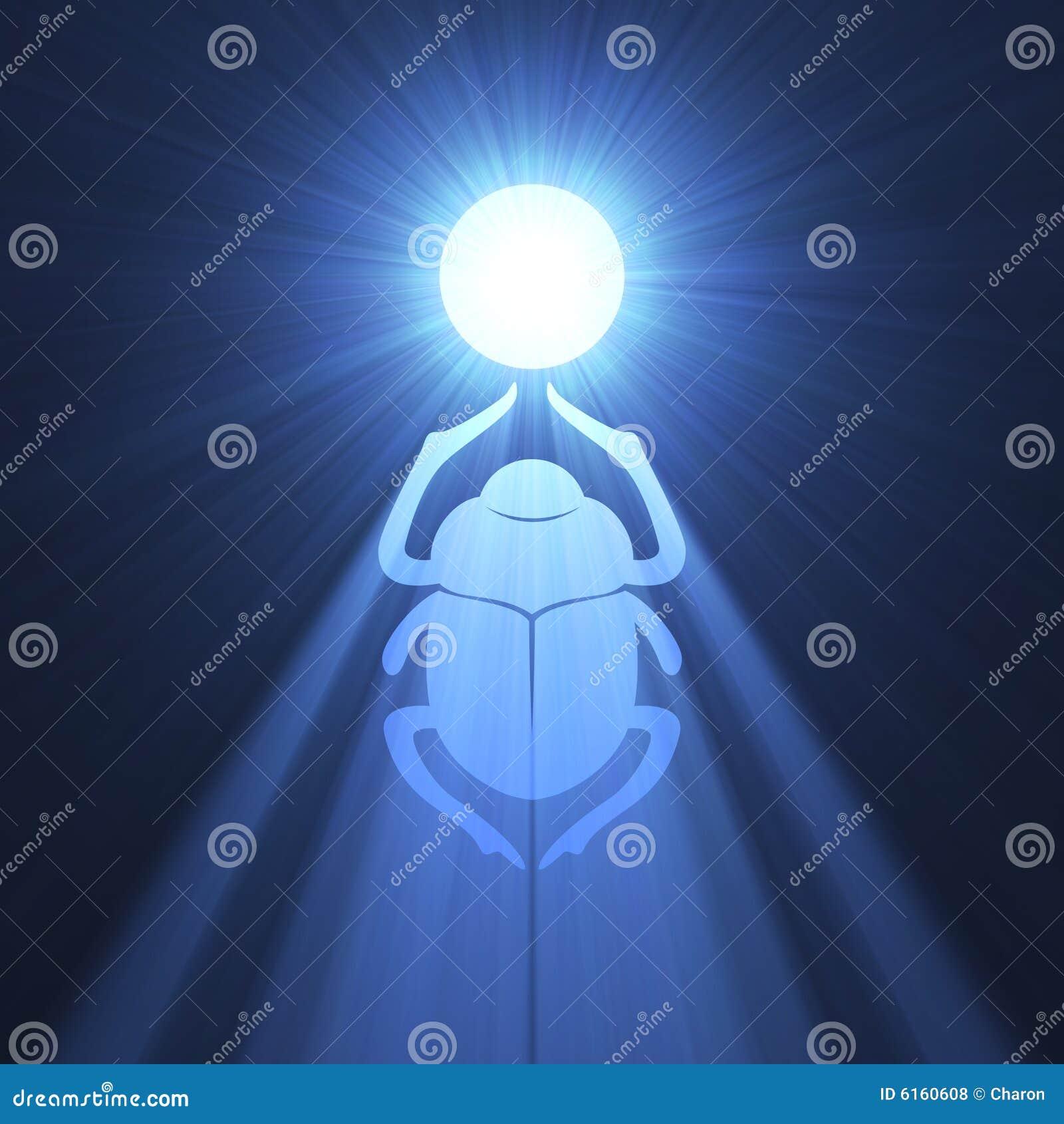 Símbolo azul de la flama del escarabajo del escarabajo