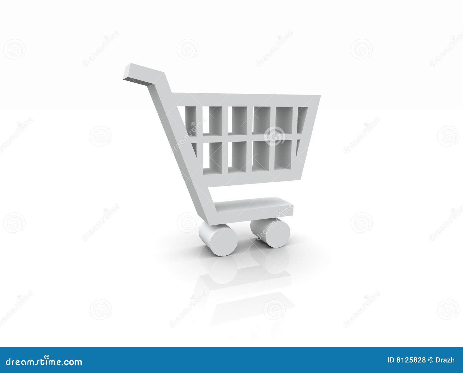 Símbolo blanco del carro 3D