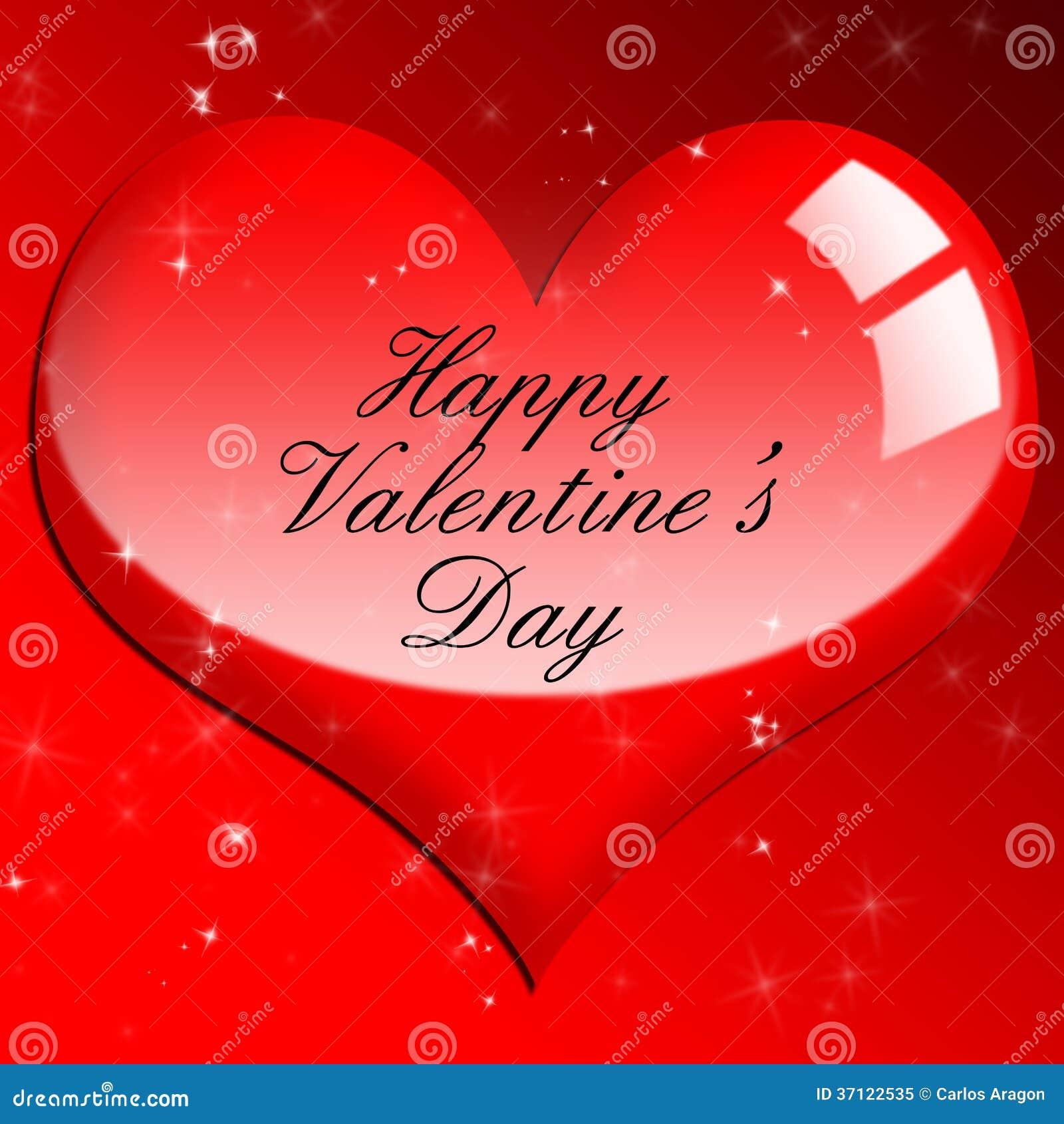 Símbolo Brillante Rojo Del Amor Del Corazón Día De Tarjetas