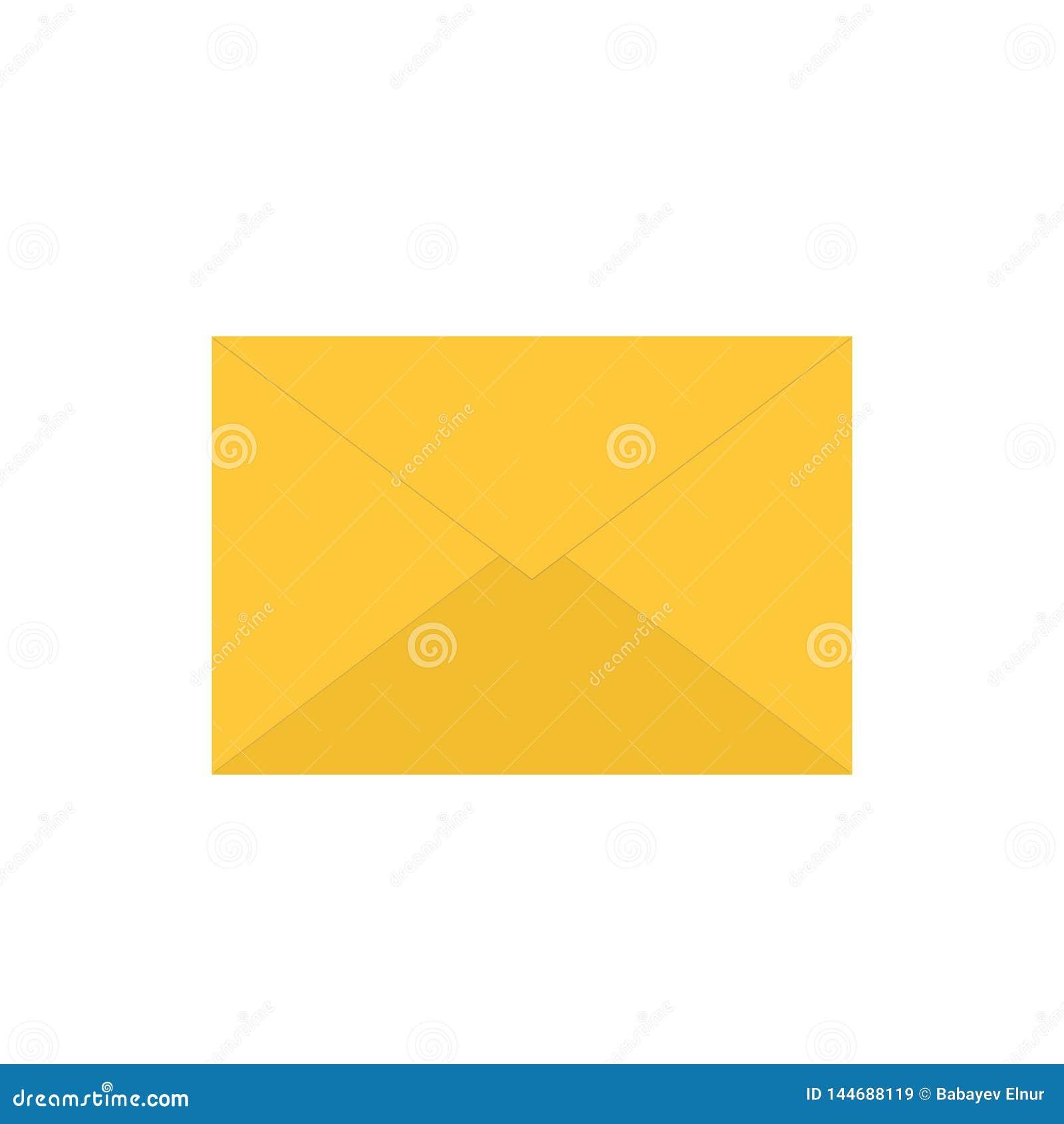 Símbolo cerrado del correo electrónico con un mensaje Ejemplo del vector del icono del correo aislado en el fondo blanco