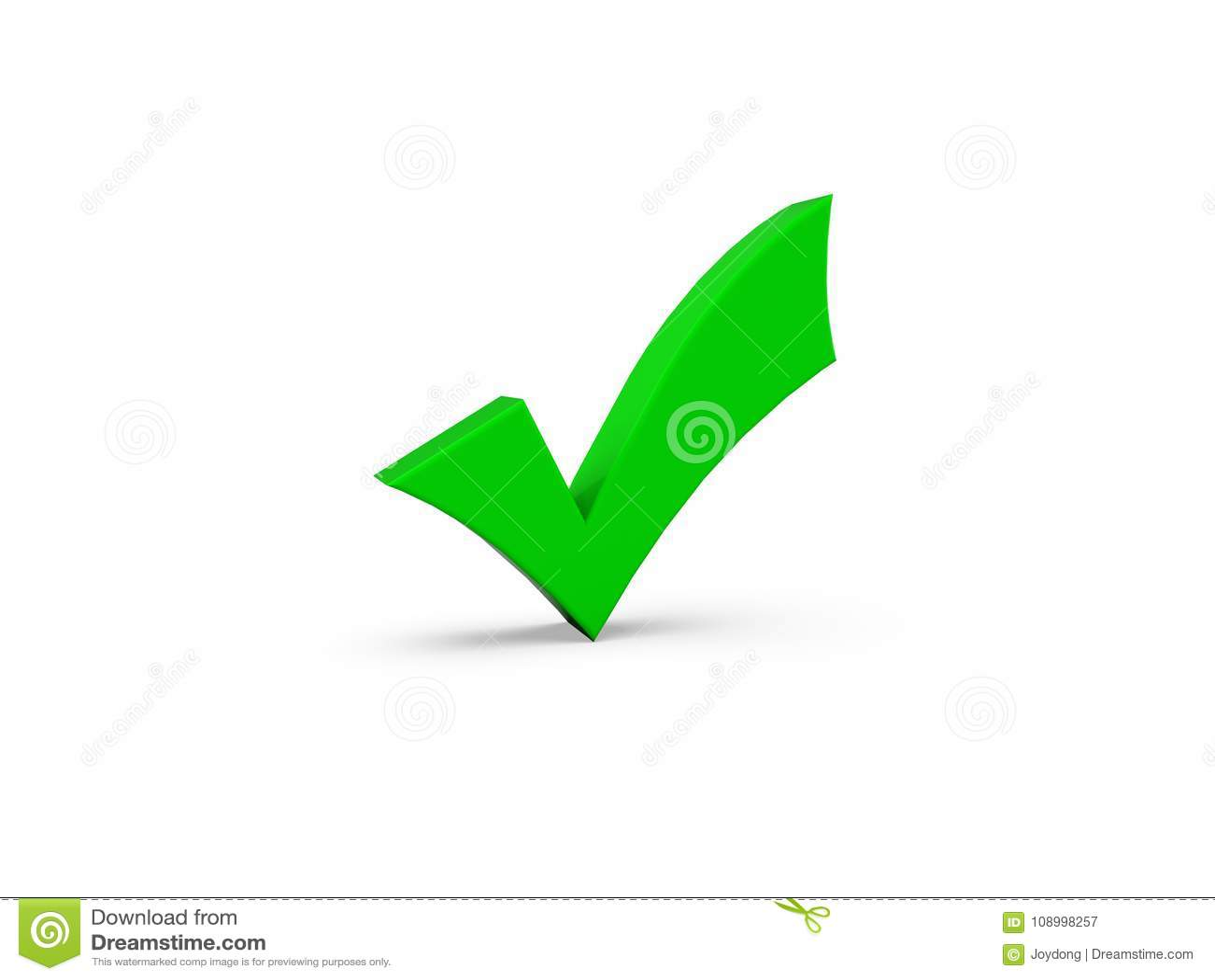 Símbolo correcto verde