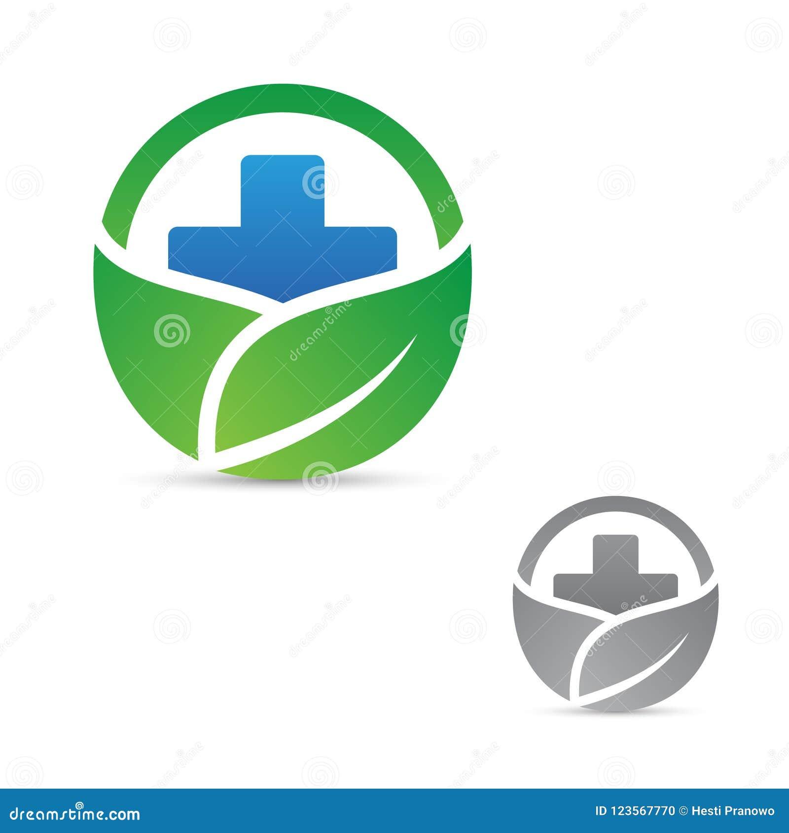 Símbolo Cruzado De La Salud Para Médico Con La Hoja En El