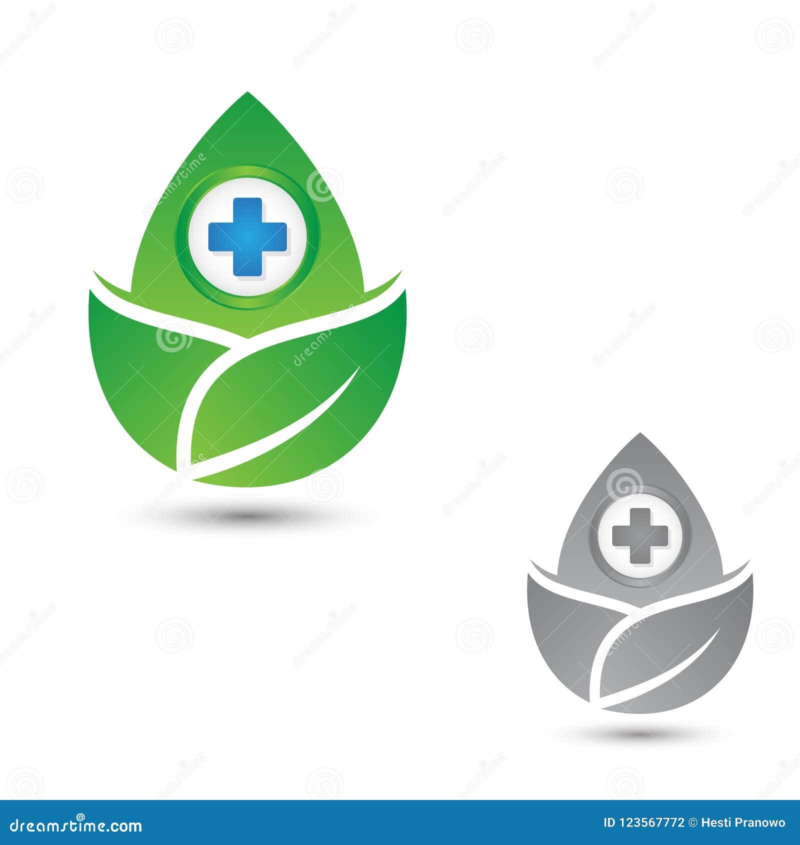 Símbolo Cruzado De La Salud Para Médico Con La Hoja Tres
