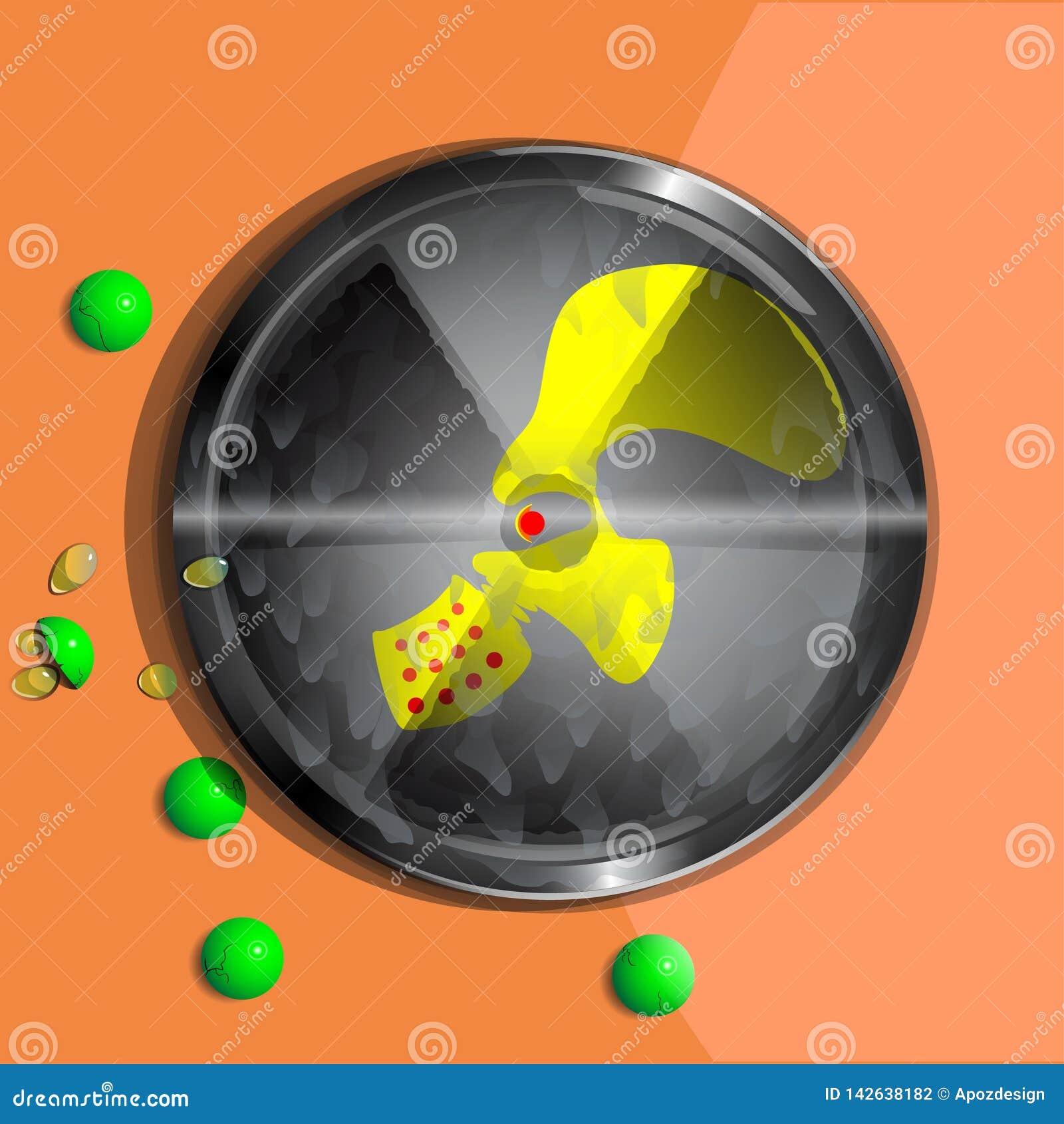Símbolo da contaminação radioativa