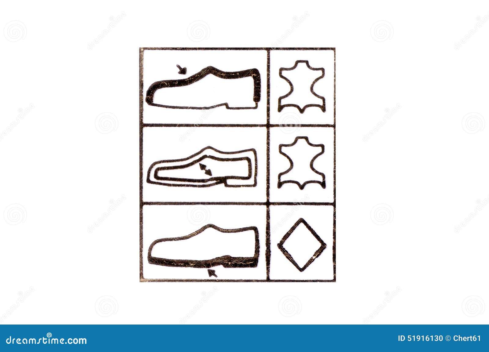 e25a57547 Símbolo Da Etiqueta Dos Calçados Foto de Stock - Imagem de sinal ...