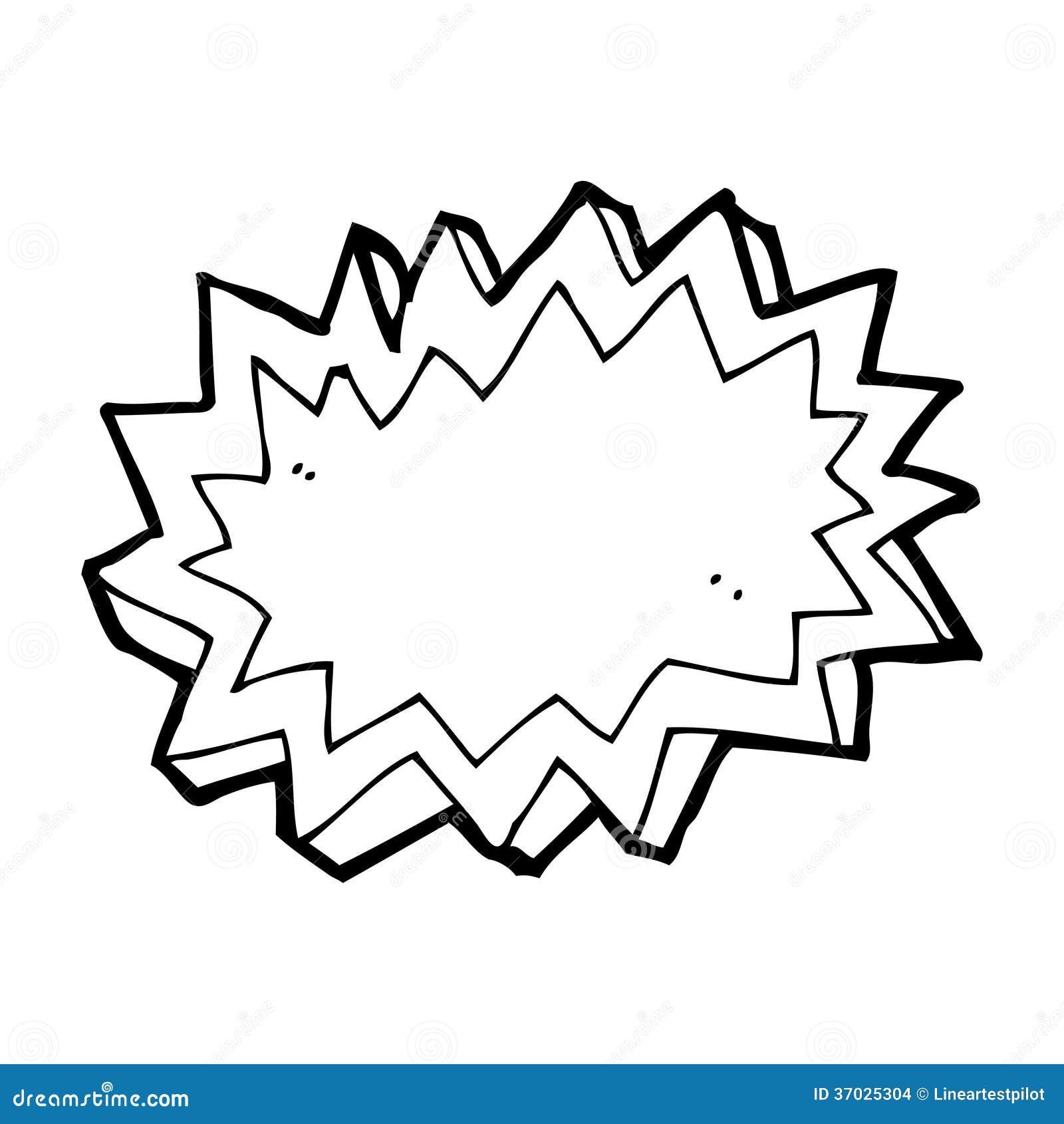 Simbolo Da Explosao Dos Desenhos Animados Ilustracao Stock