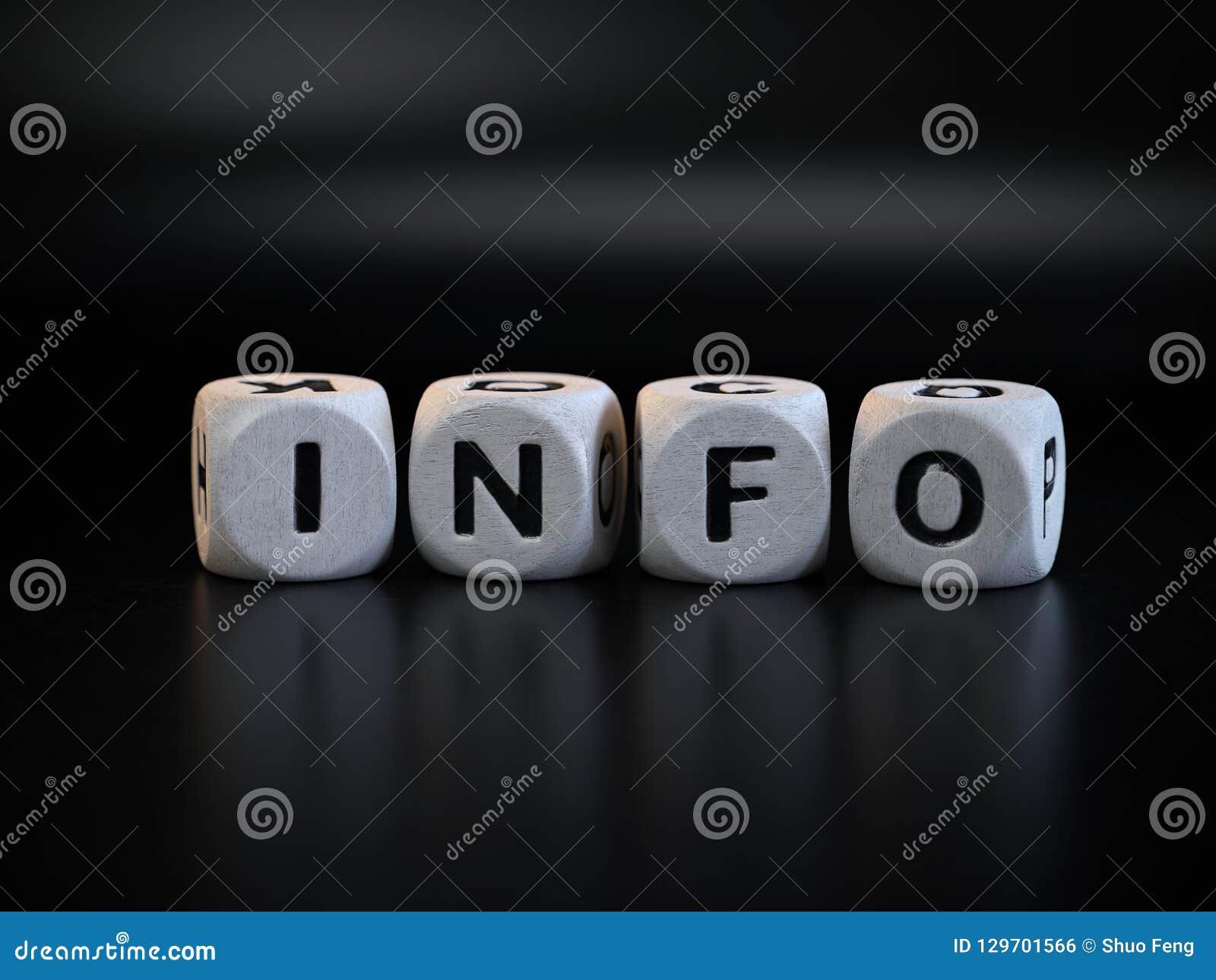 Símbolo da informação, dado do conceito da informação