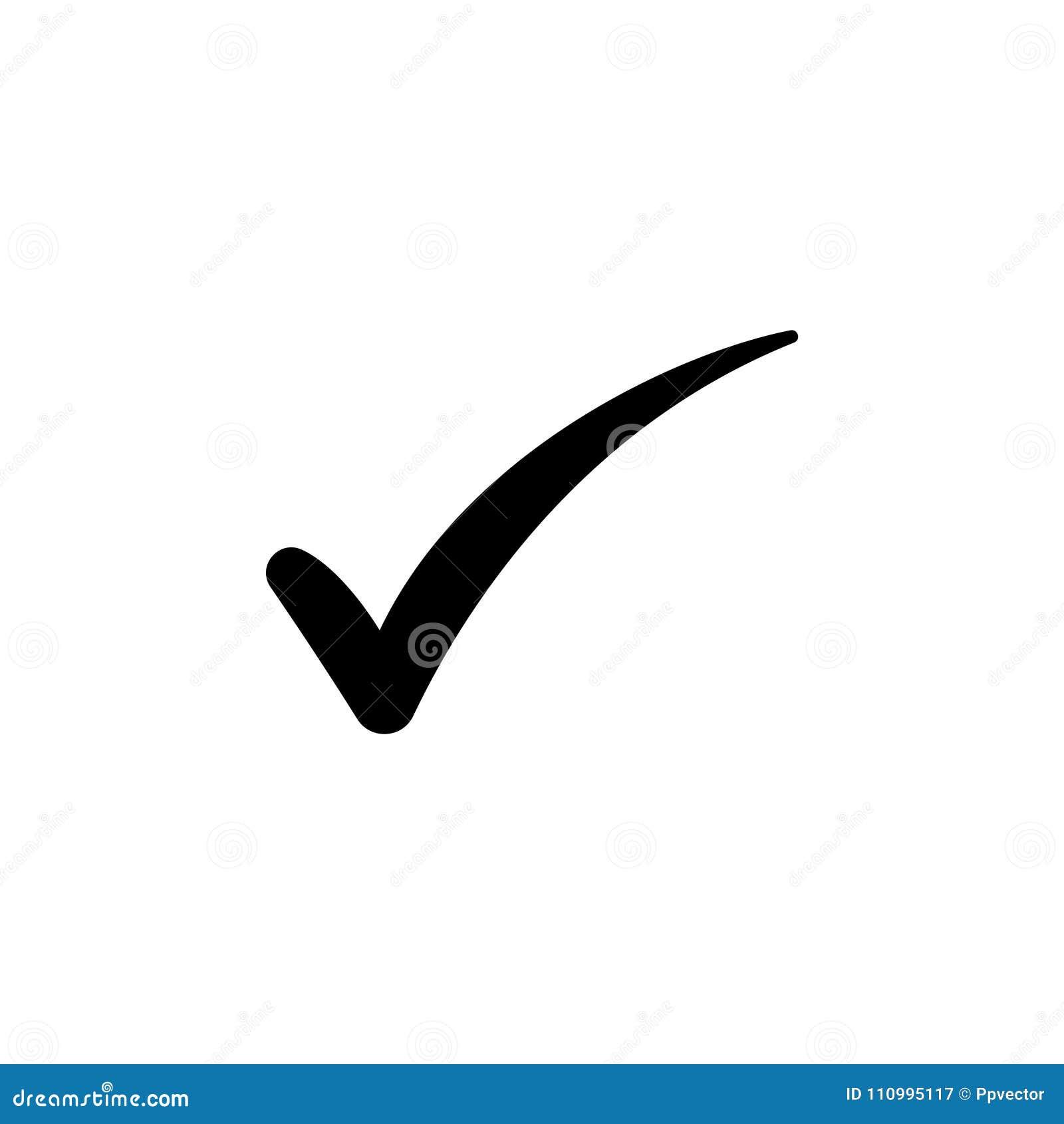 Símbolo da marca de verificação, vetor