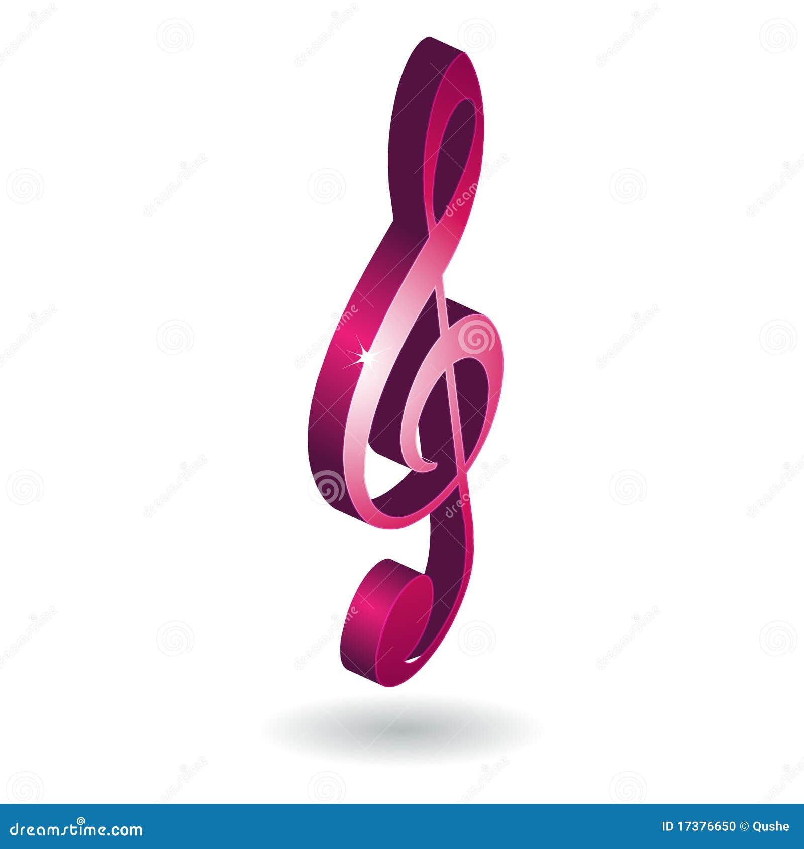 Símbolo da nota da música 3D