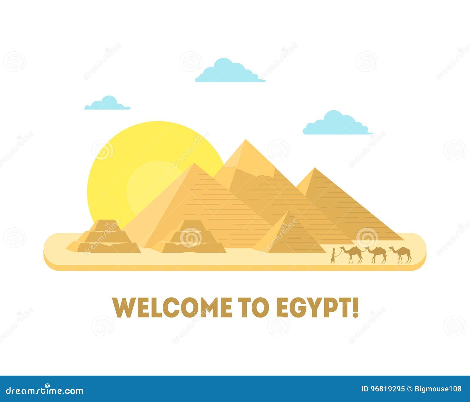 Simbolo Da Piramide Dos Desenhos Animados Do Conceito Do Turismo