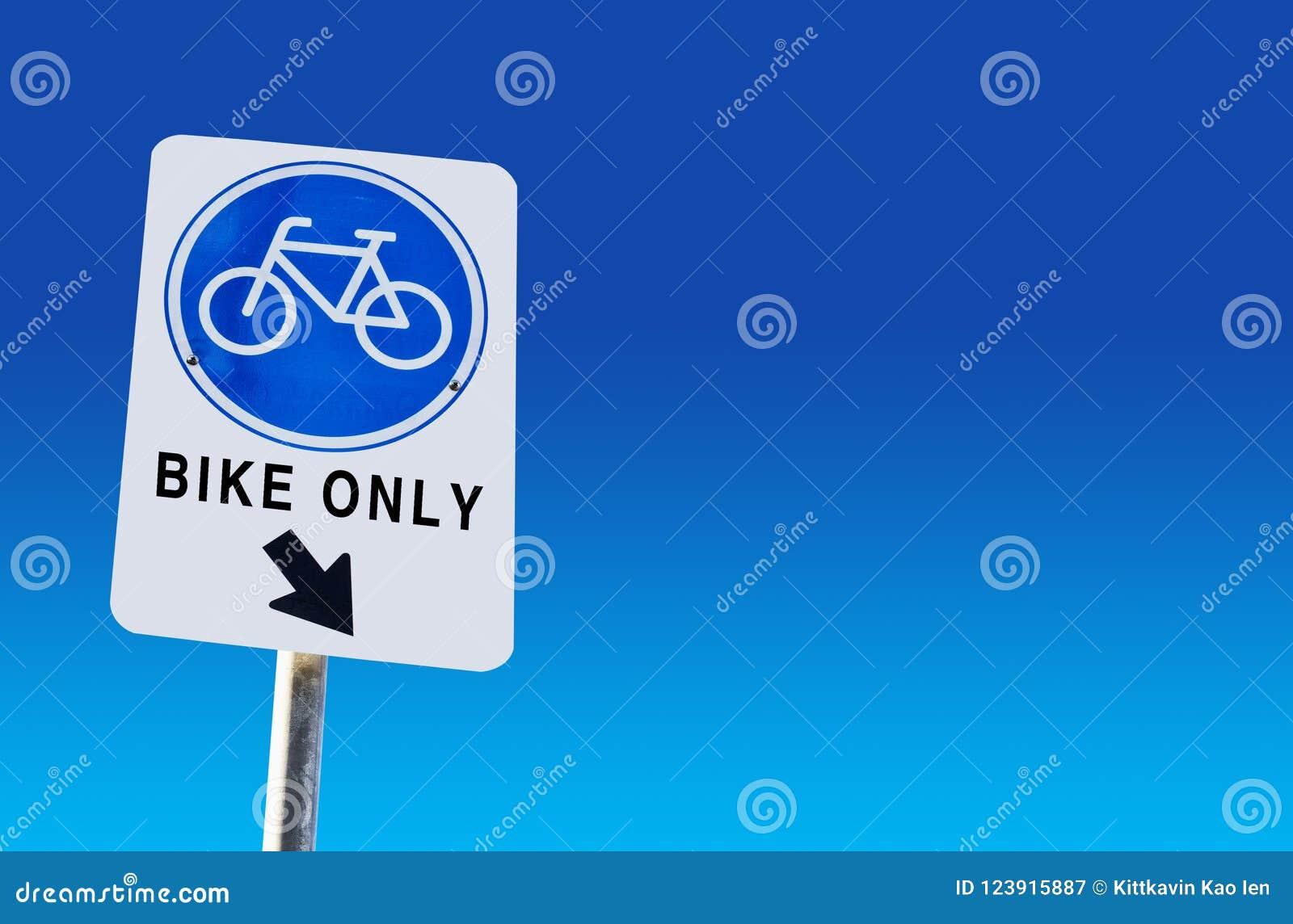 Símbolo da pista da bicicleta