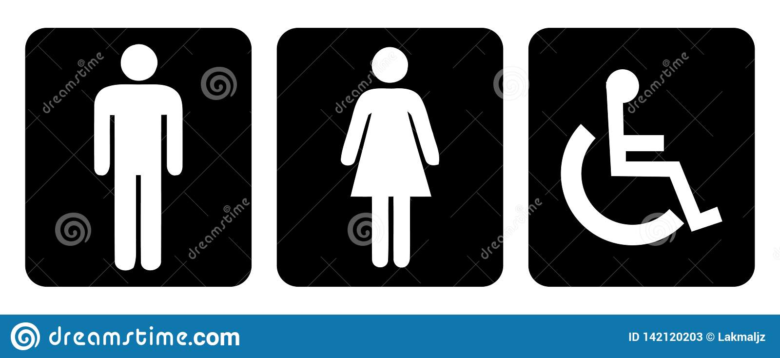 Símbolo da sala e do toalete de lavagem no desenho preto do fundo pela ilustração