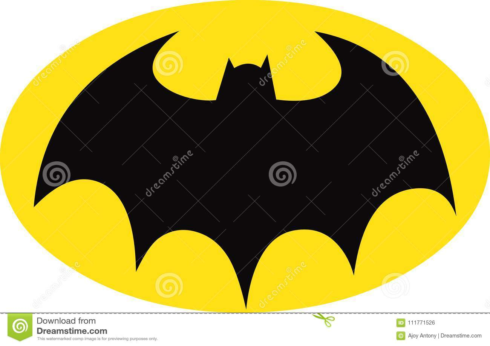 Símbolo De Batman En óvalo Amarillo Foto Editorial Ilustración De