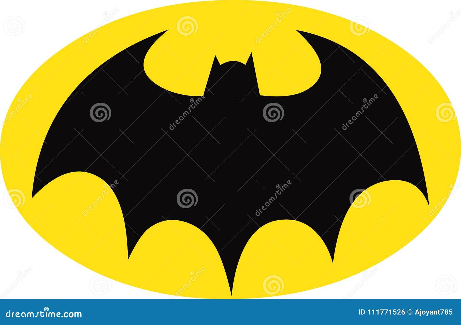 Símbolo de Batman en óvalo amarillo