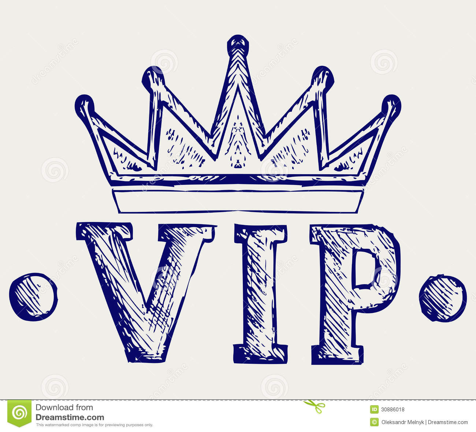 Símbolo de la corona del Vip
