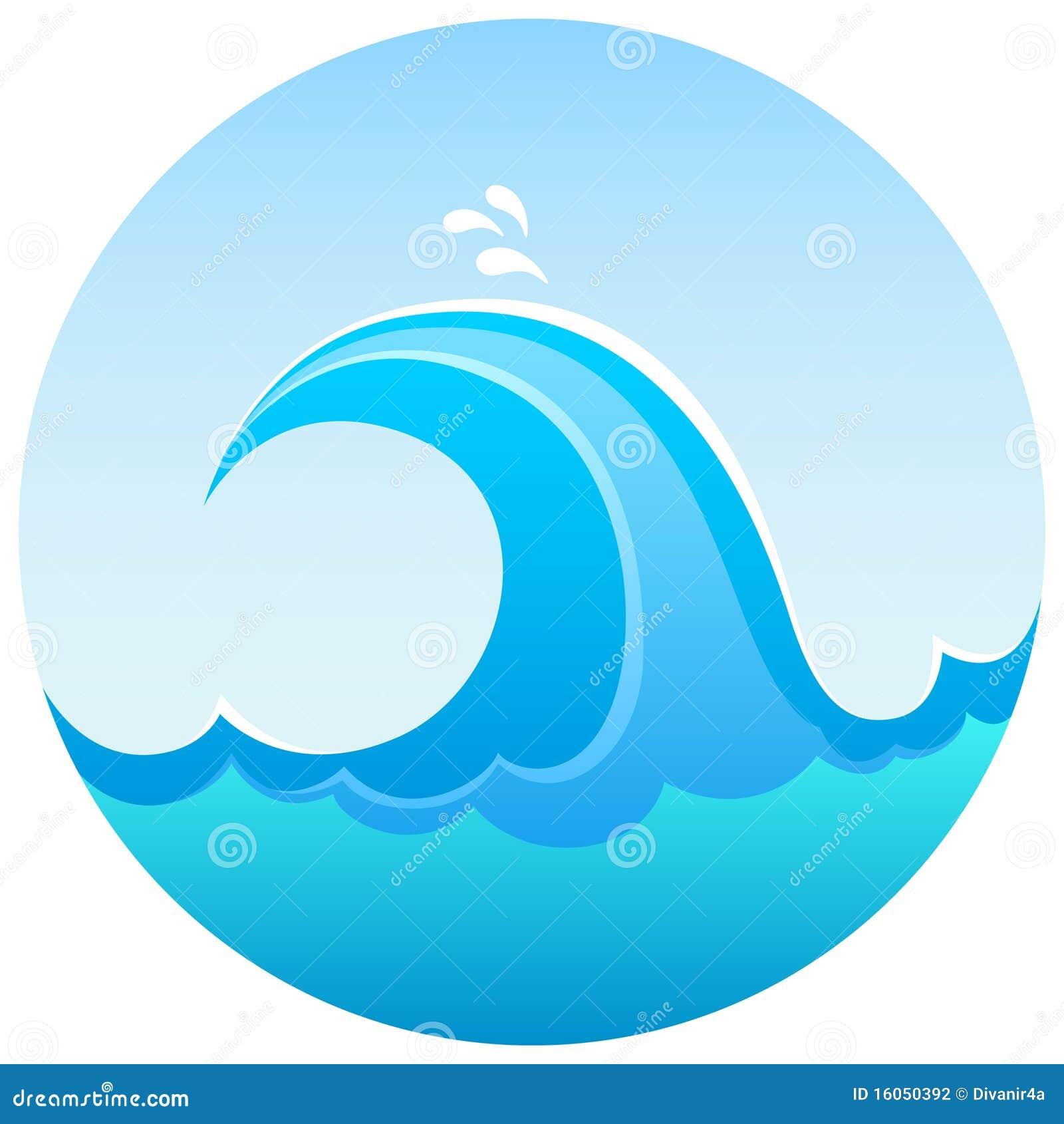 Símbolo de la onda del mar