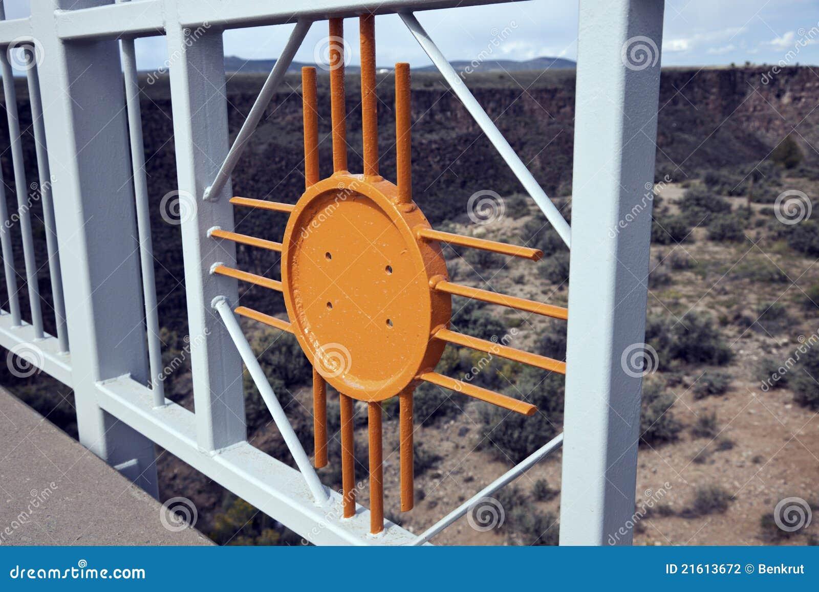 Símbolo de New México - sol de Zia