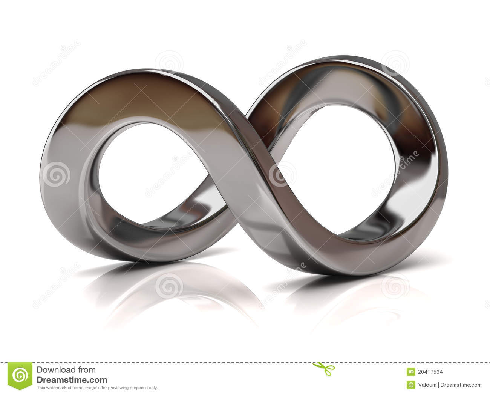 Símbolo de plata del infinito