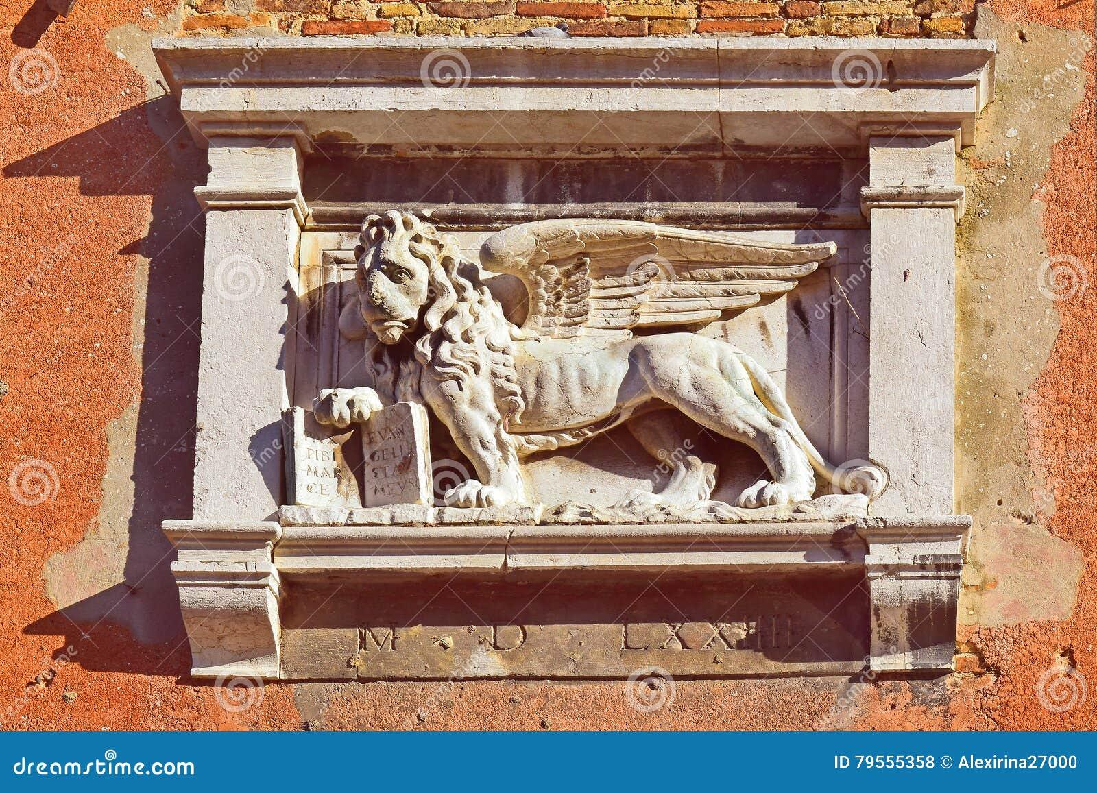 Símbolo de Venecia, el león con alas de St Mark