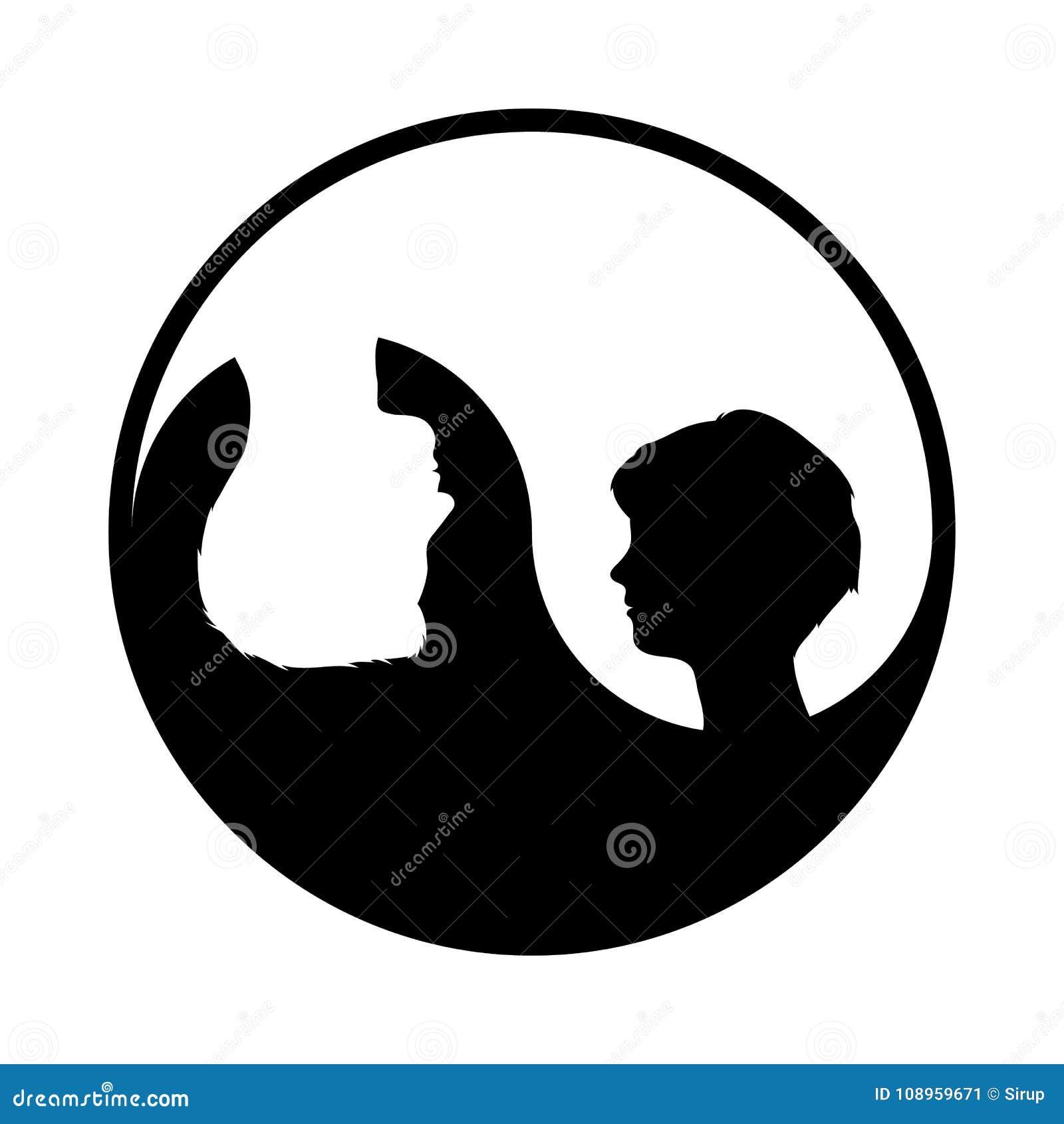 446d17a02fa69 Símbolo De Yin Yang Com Mulher E Homem Ilustração Stock - Ilustração ...